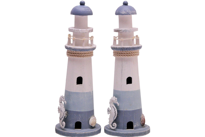 29.5cm Wood Lighthouse