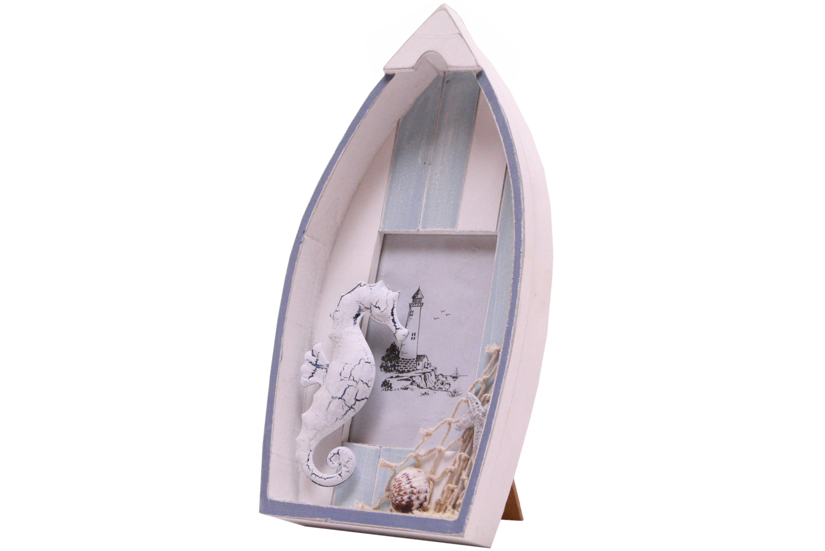 28cm Wooden Boat Picture Frame