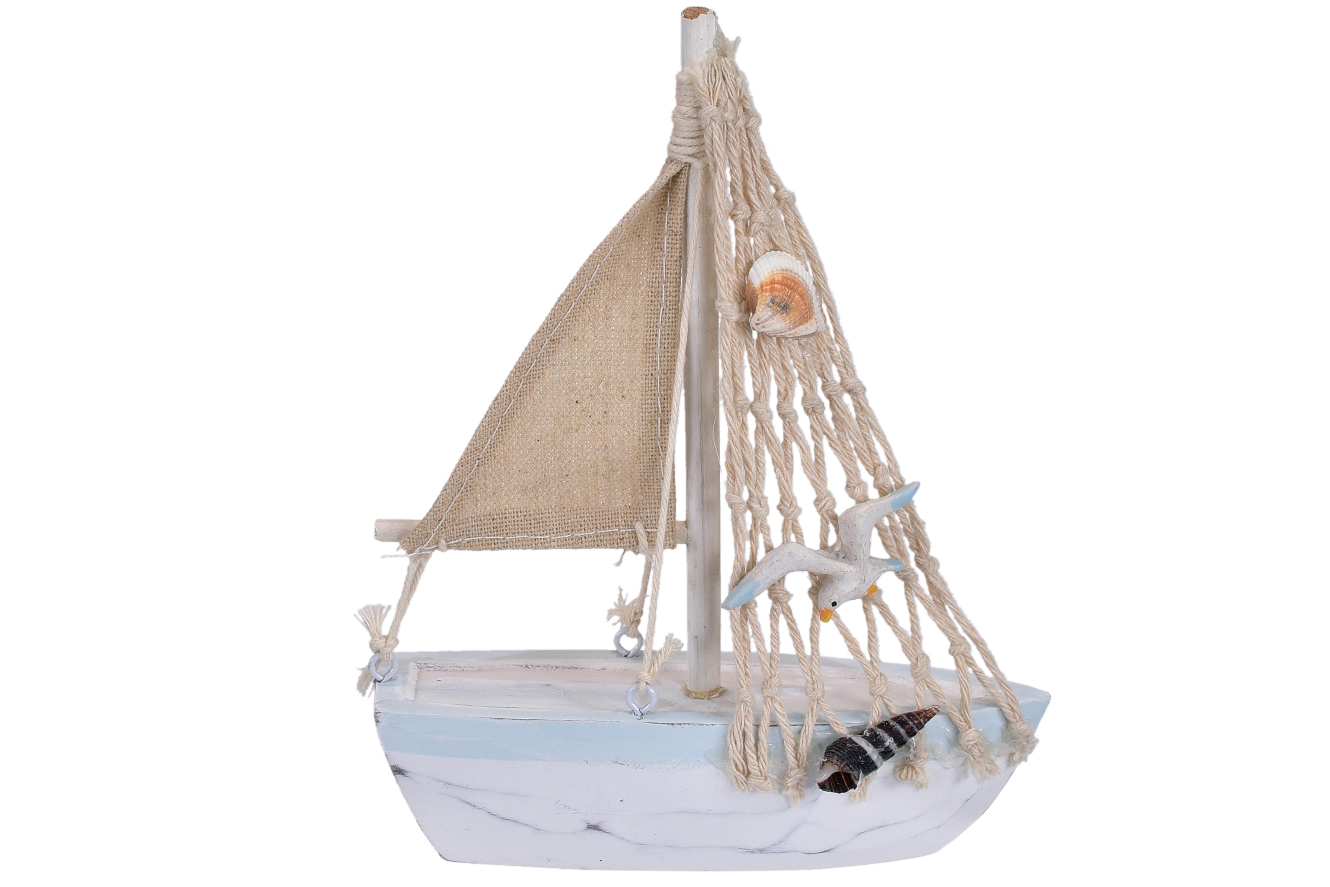 12cm Wooden Fishing Boat