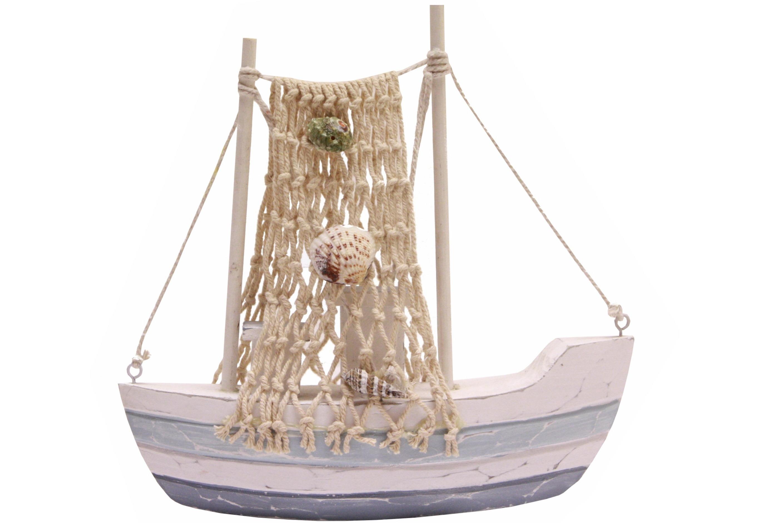 20cm Wooden Fishing Boat