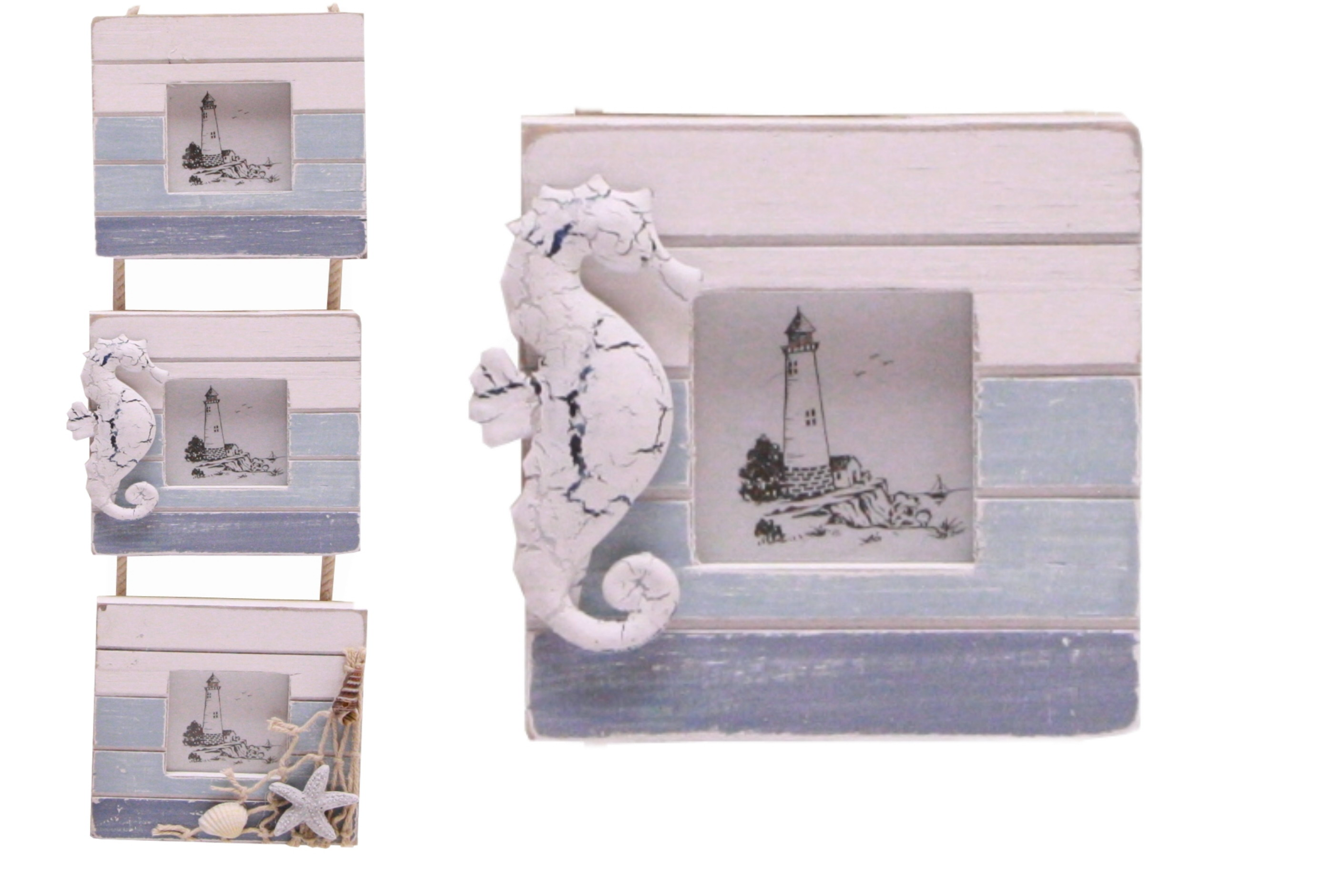 42cm 3 Section Wooden Photo Frames