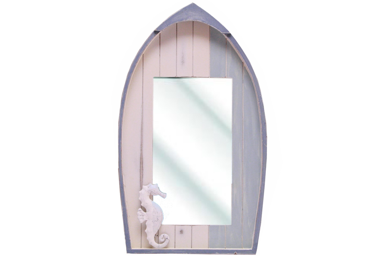 Wooden Boat Mirror 45cm