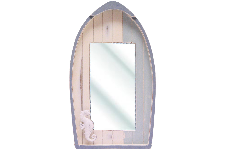 Wooden Boat Mirror 32cm