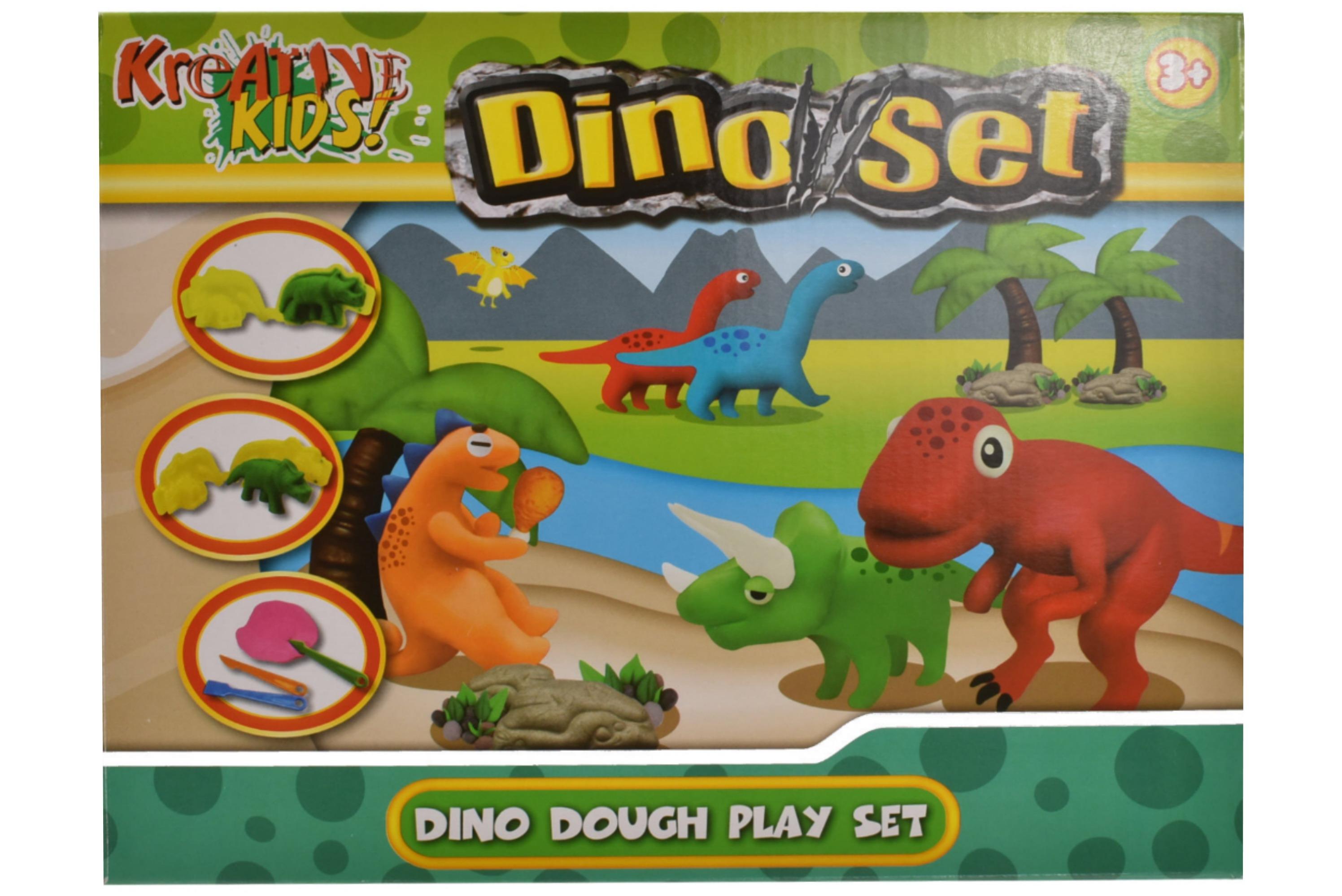 Dino Play Dough Set In Colour Box