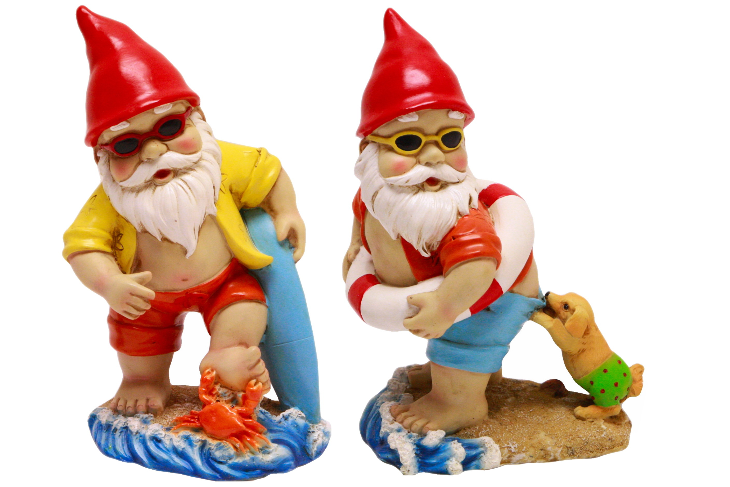 23cm Polyresin Beach Gnome 2 Assorted Designs