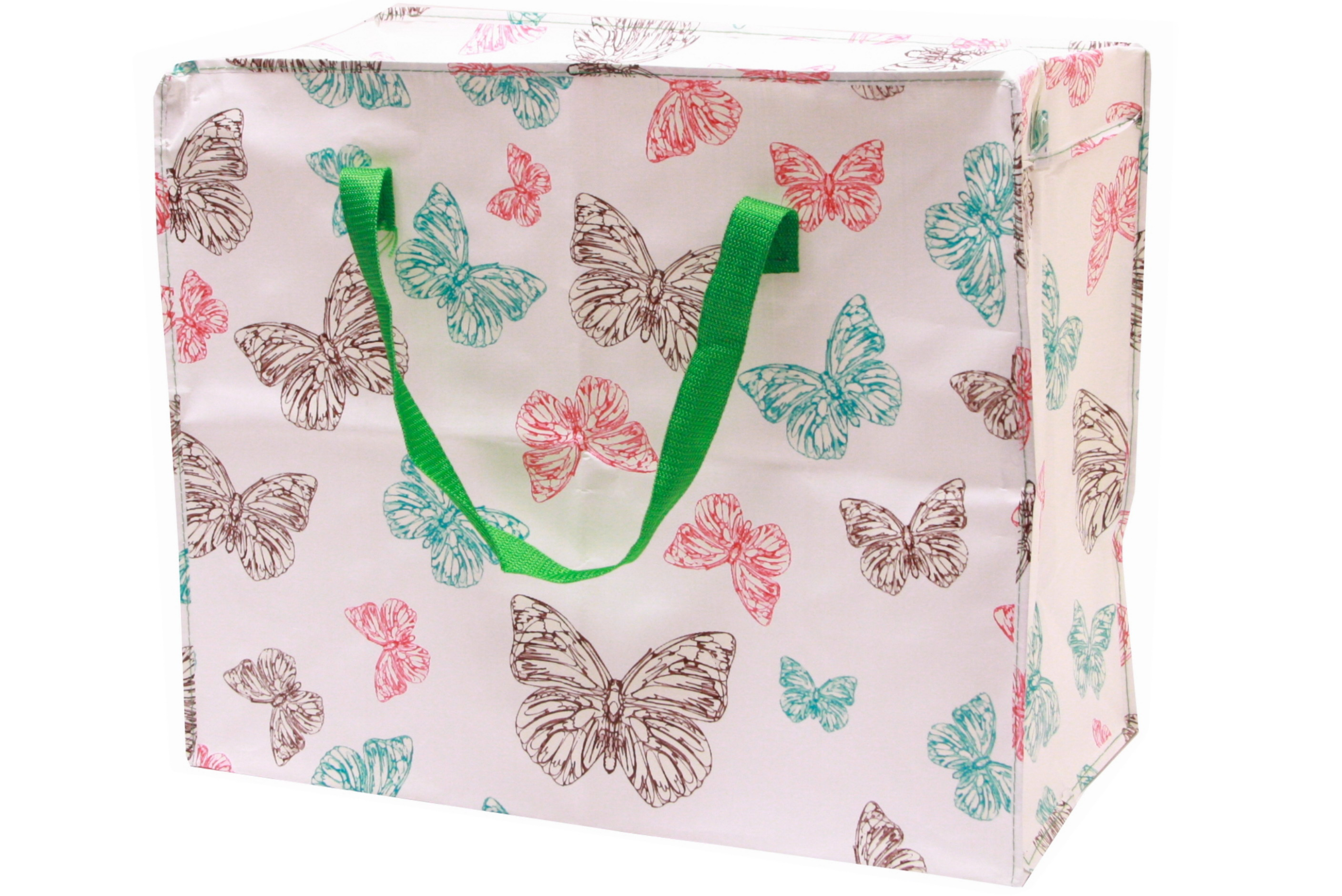Butterfly Print Shopping Bag 58cm x 48cm x 30cm