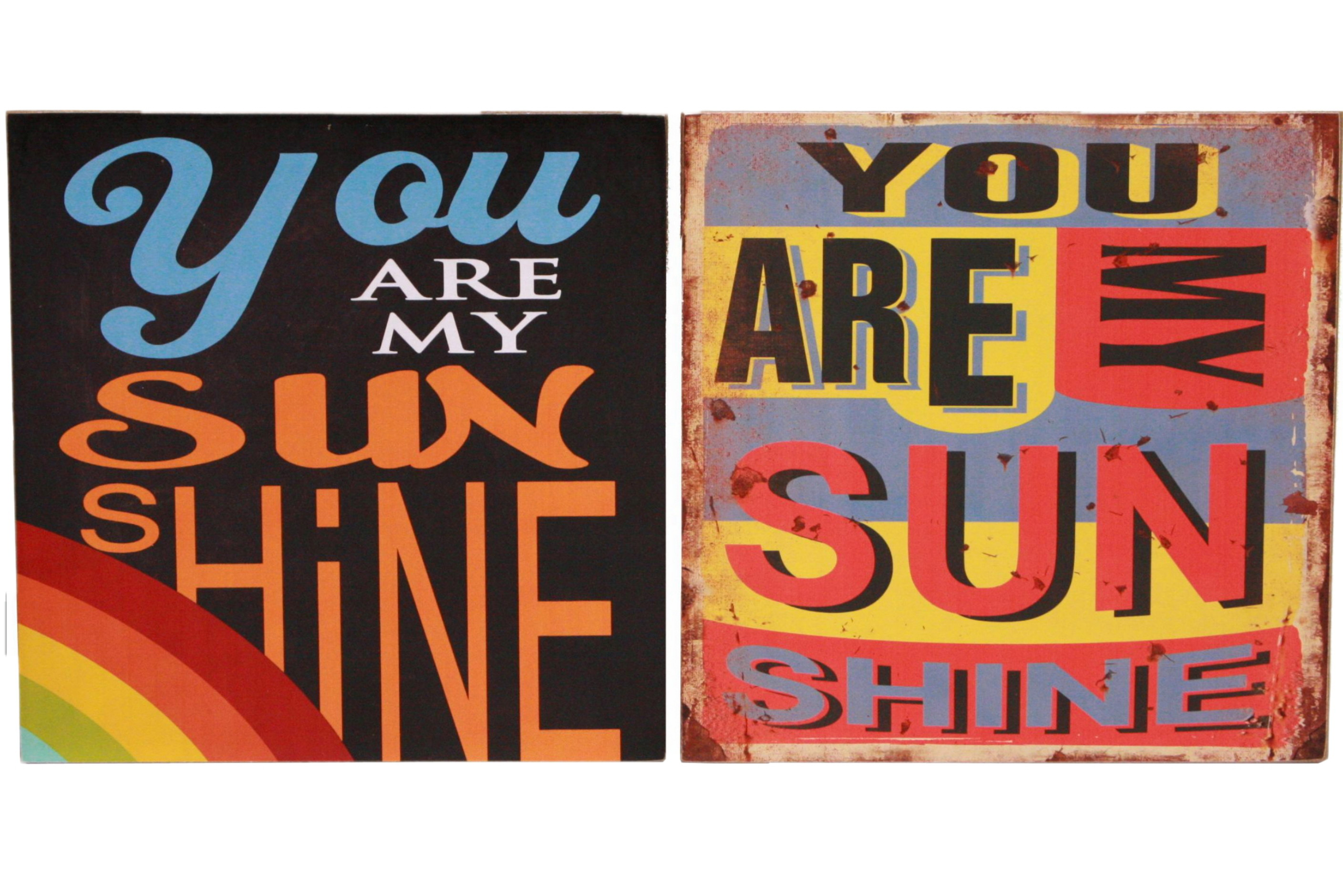 30cm x 30cm Sunshine Wooden Signs 2 Assorted
