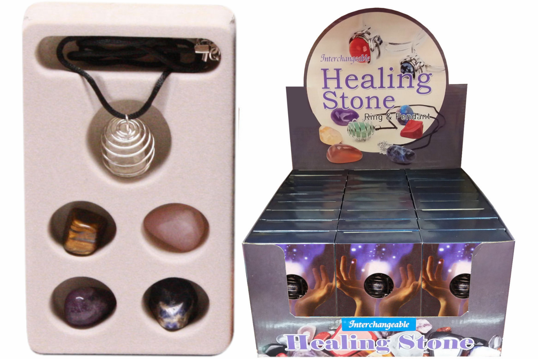 Healing Crystal Set In Colour Box / Display Box