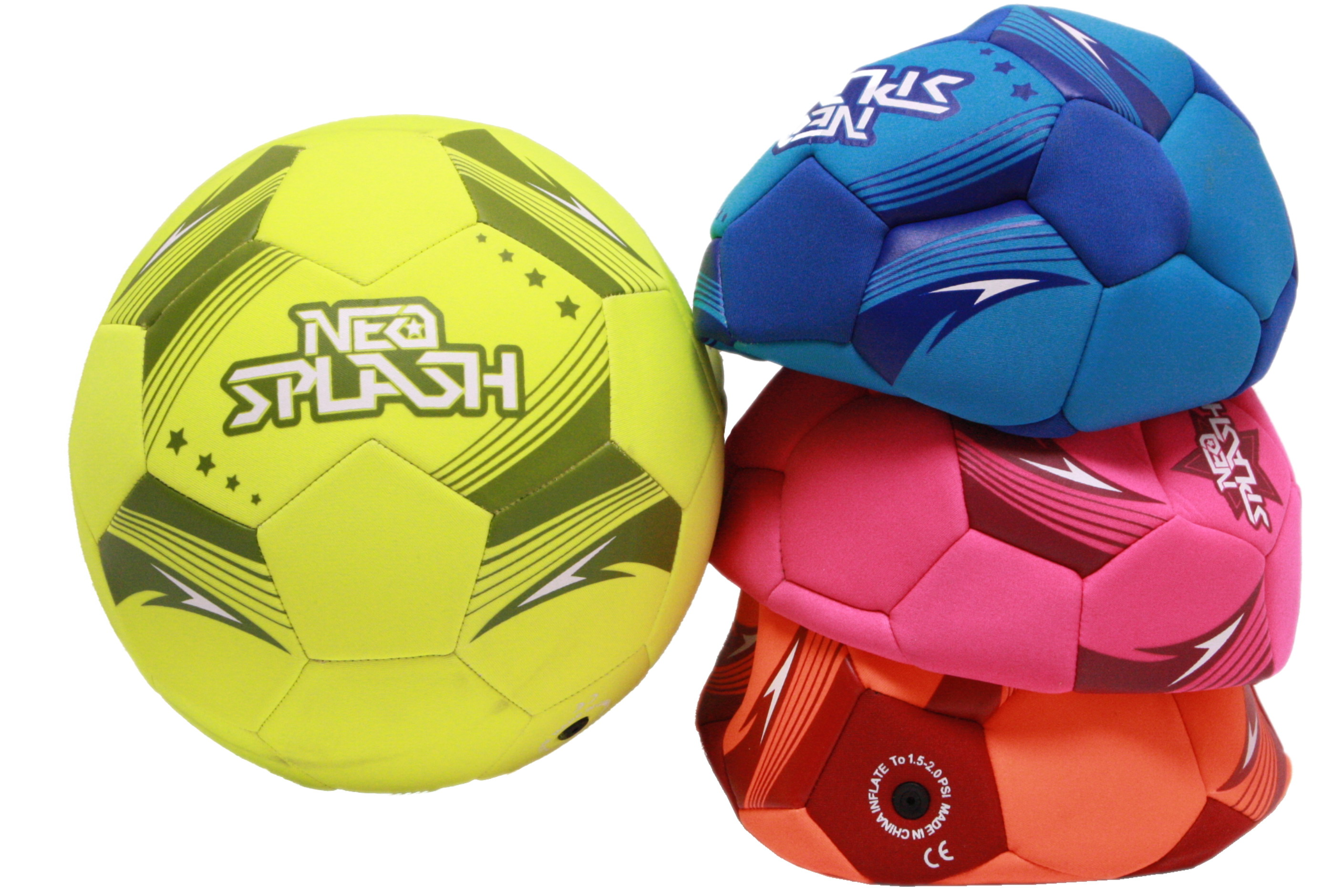 Neoprene Football Size 5 (4 Assorted Colours) Deflated