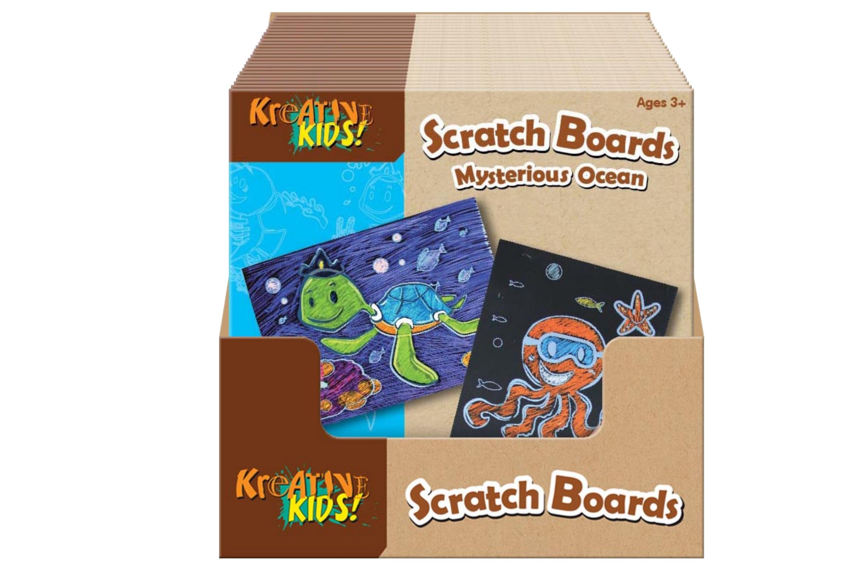 Mysterious Ocean Scratch Board In Display Box