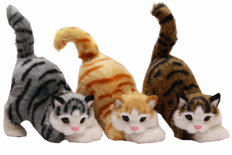 17cm Playful Cat 3 Assorted Colours