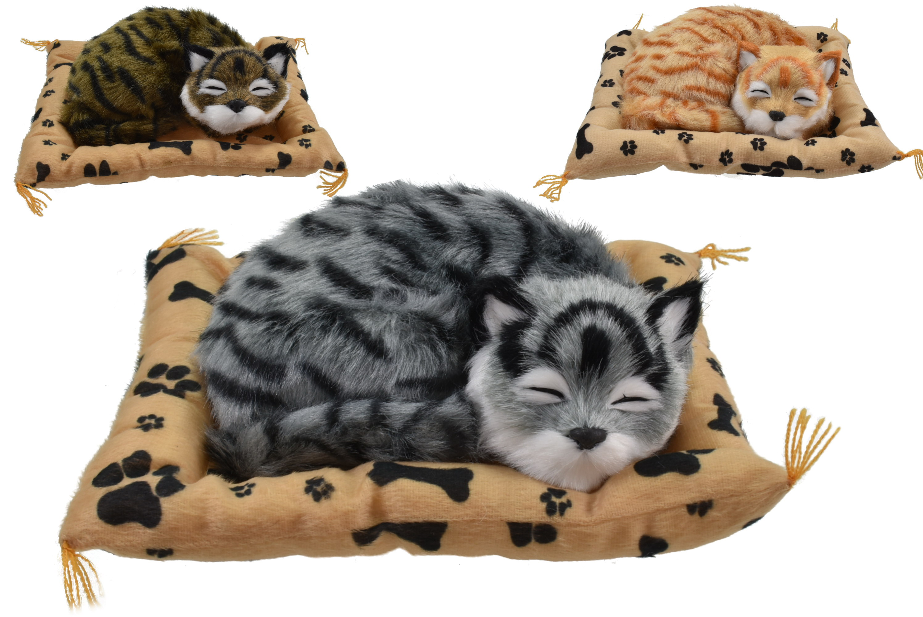 Cat On Blanket With Sound 3 Assorted