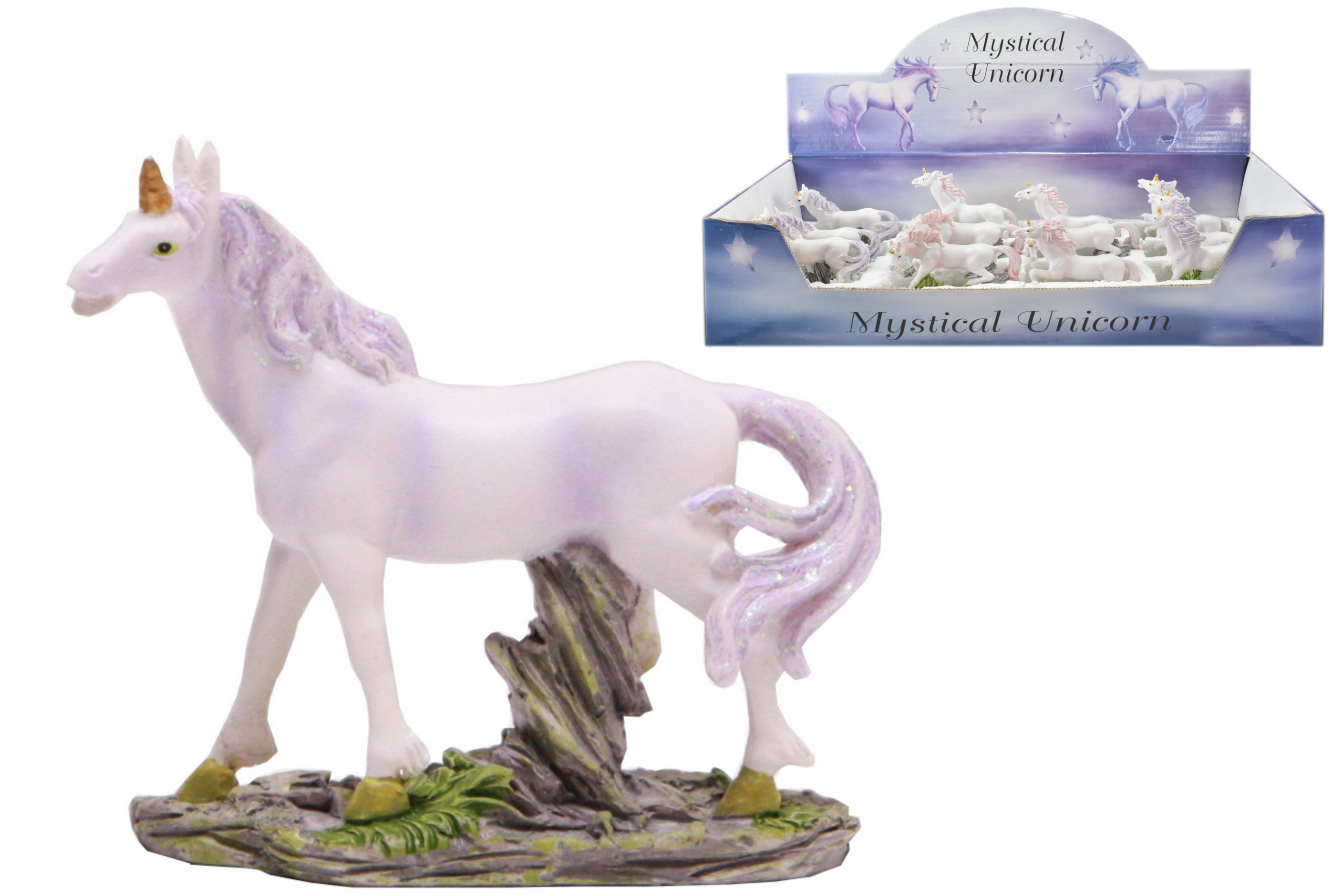 Polyresin Unicorn (4 Assorted) In Display Box