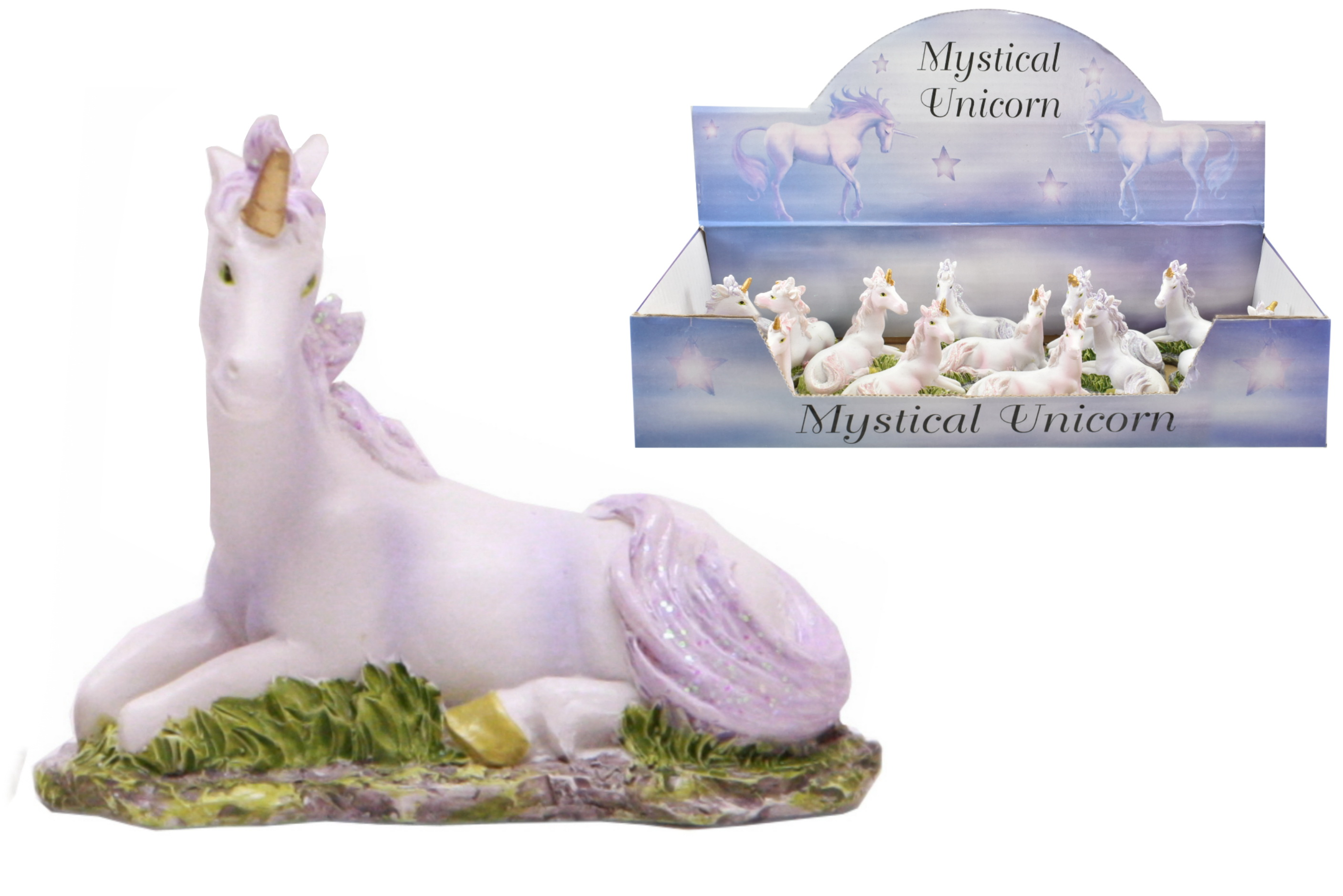 Polyresin Unicorn (2 Assorted) In Display Box