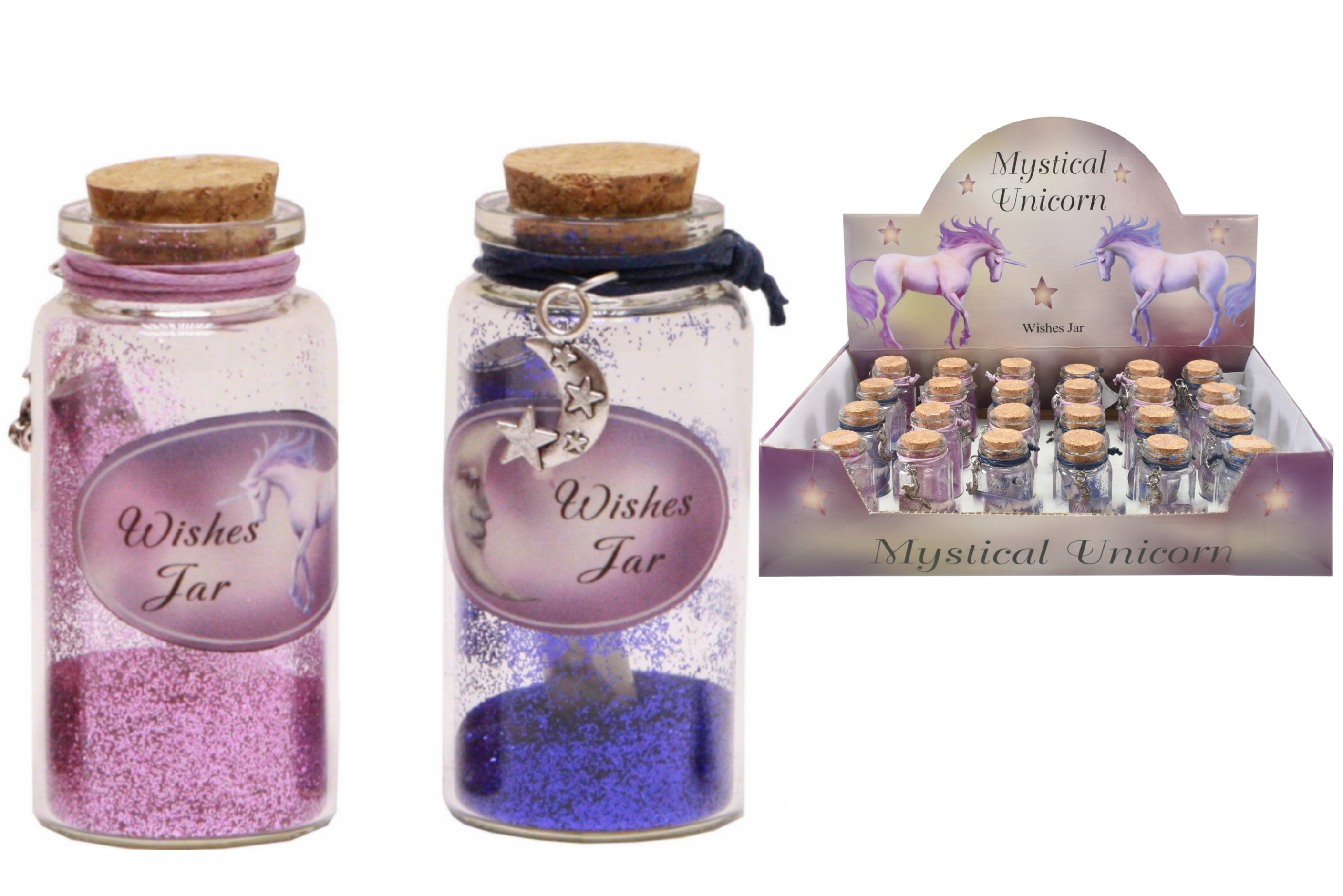 Unicorn Wishing Jar (4 Assorted) In Display Box