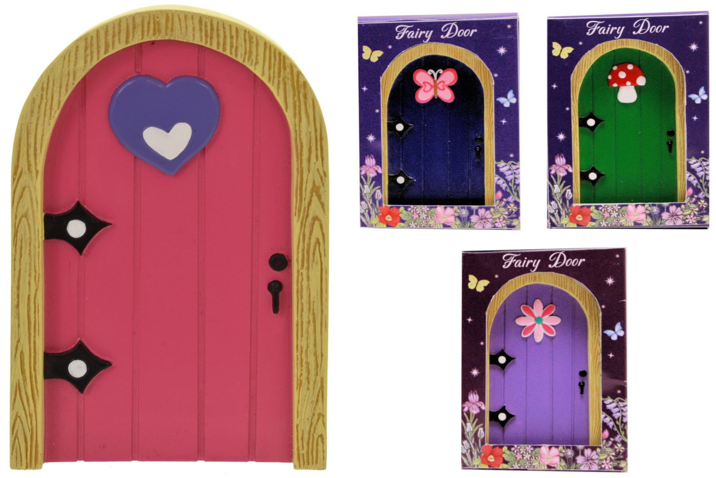 Polyresin Fairy Garden Door (4 Assorted) In Window Box