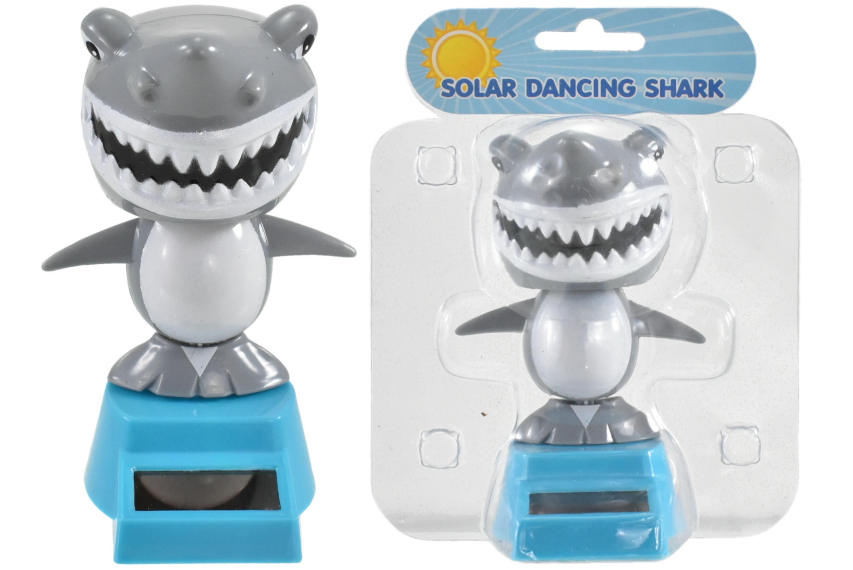 Solar Dancing Shark In Clamshell 2 Assorted Colours