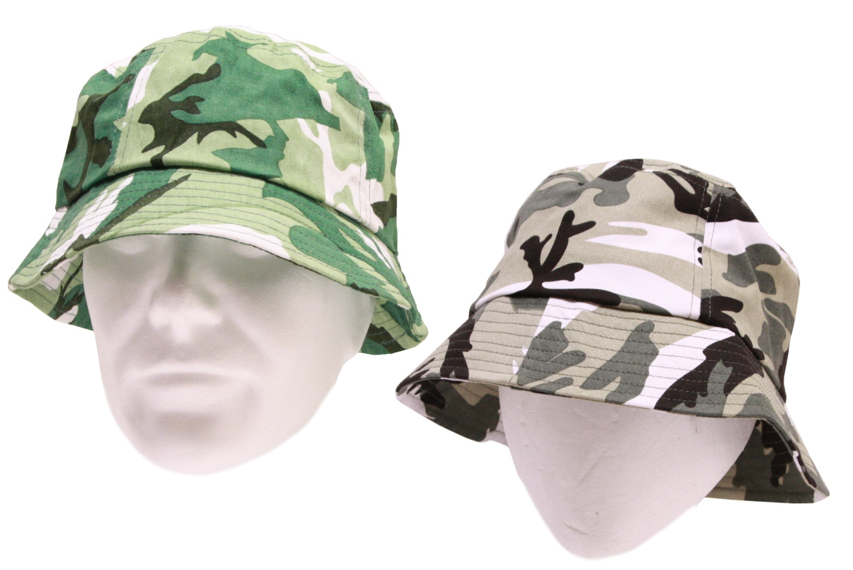 Adult Camo Bucket Hat 58cm (2 Assorted Colours)