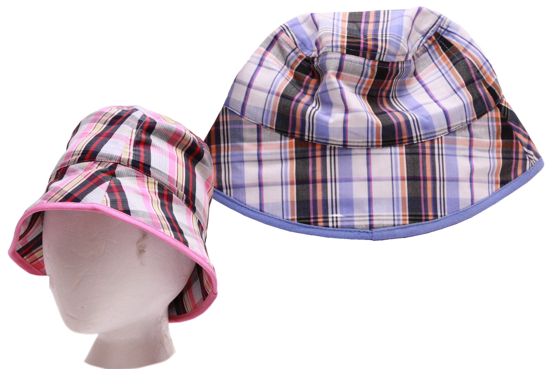 Childs Check Design Bucket Hat - 2 Assorted (Vat Free)
