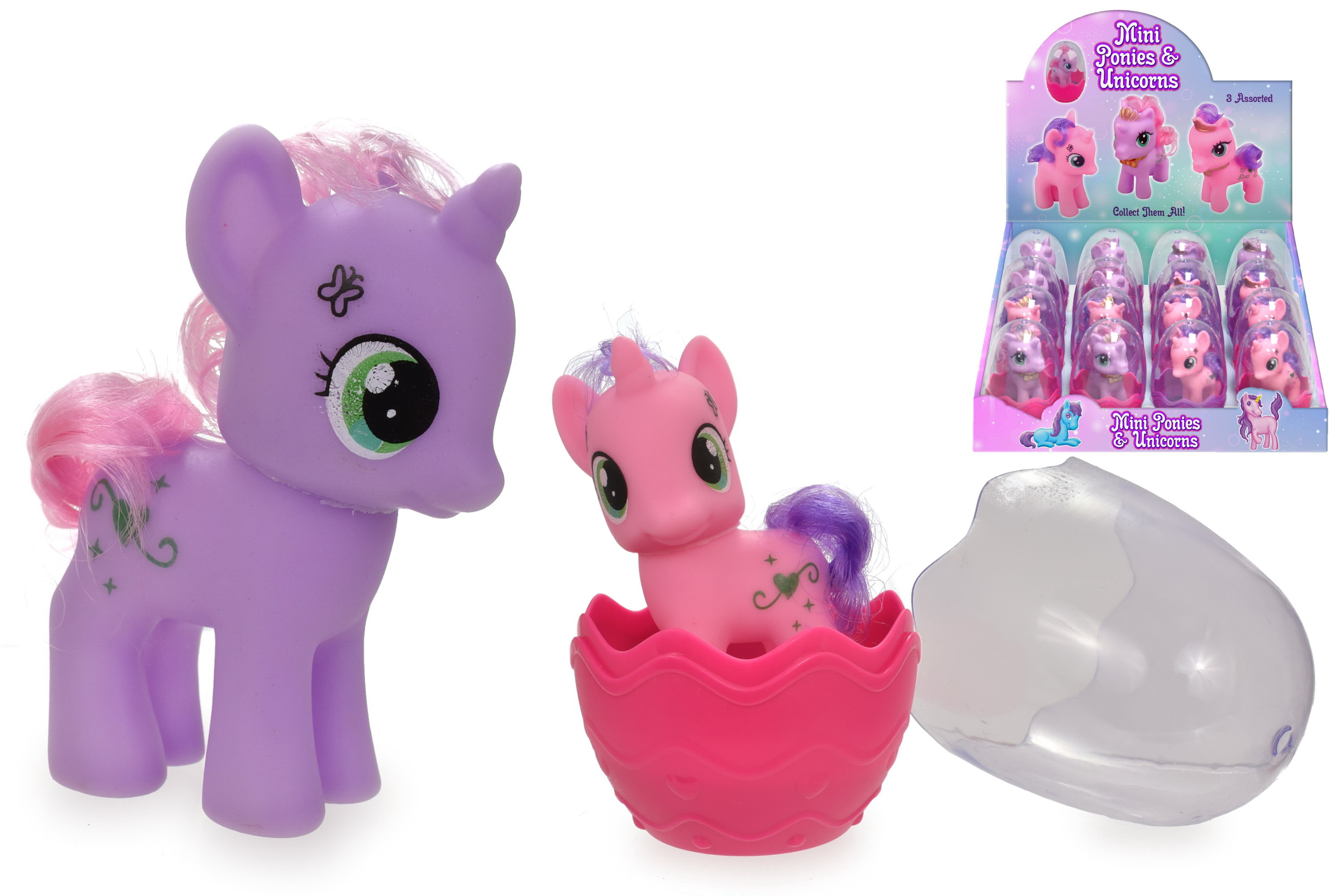 "Mini Ponies & Unicorns - 3 Assorted ""Its Girls Stuff"""