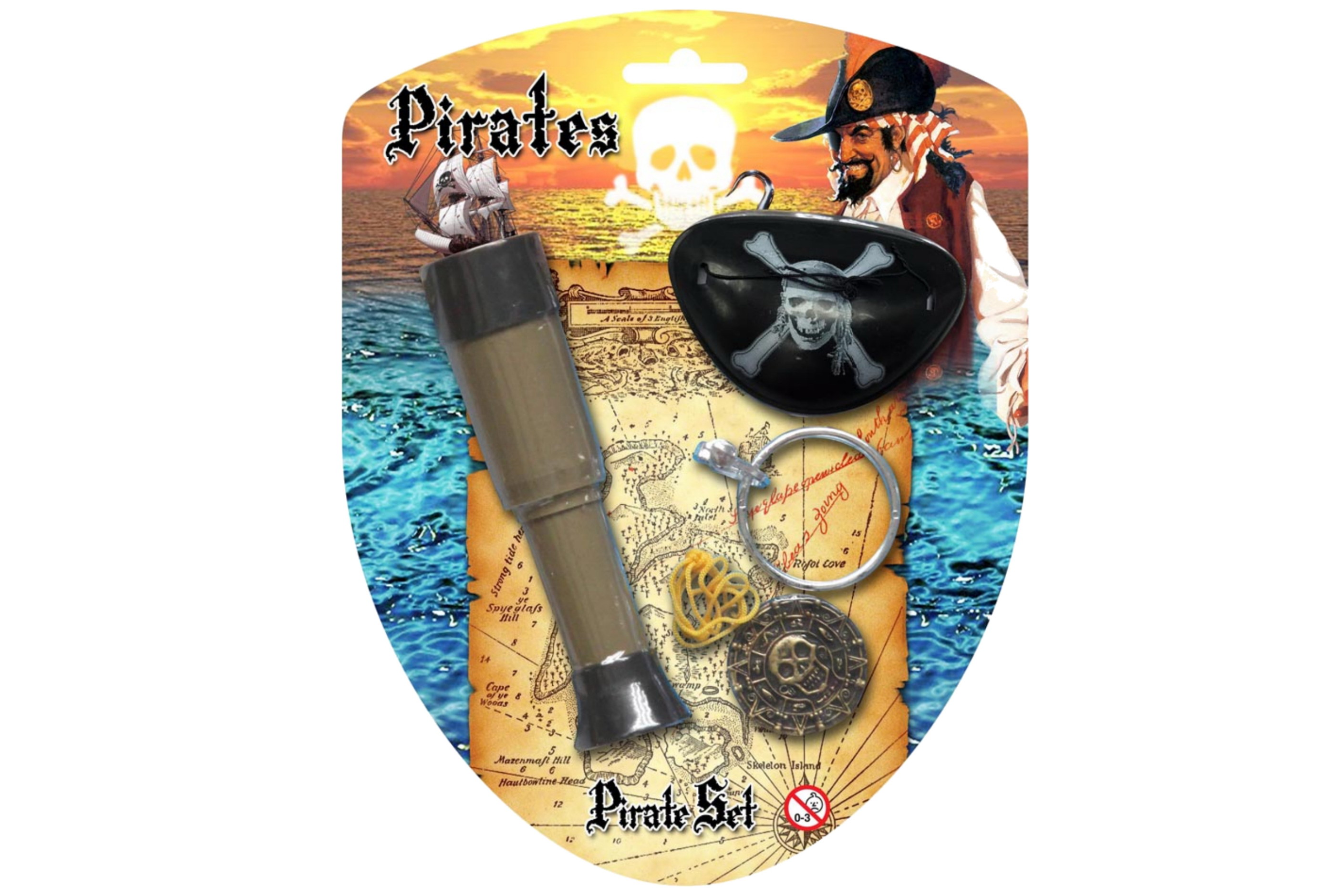 Pirate Telescope Playset On Blistercard