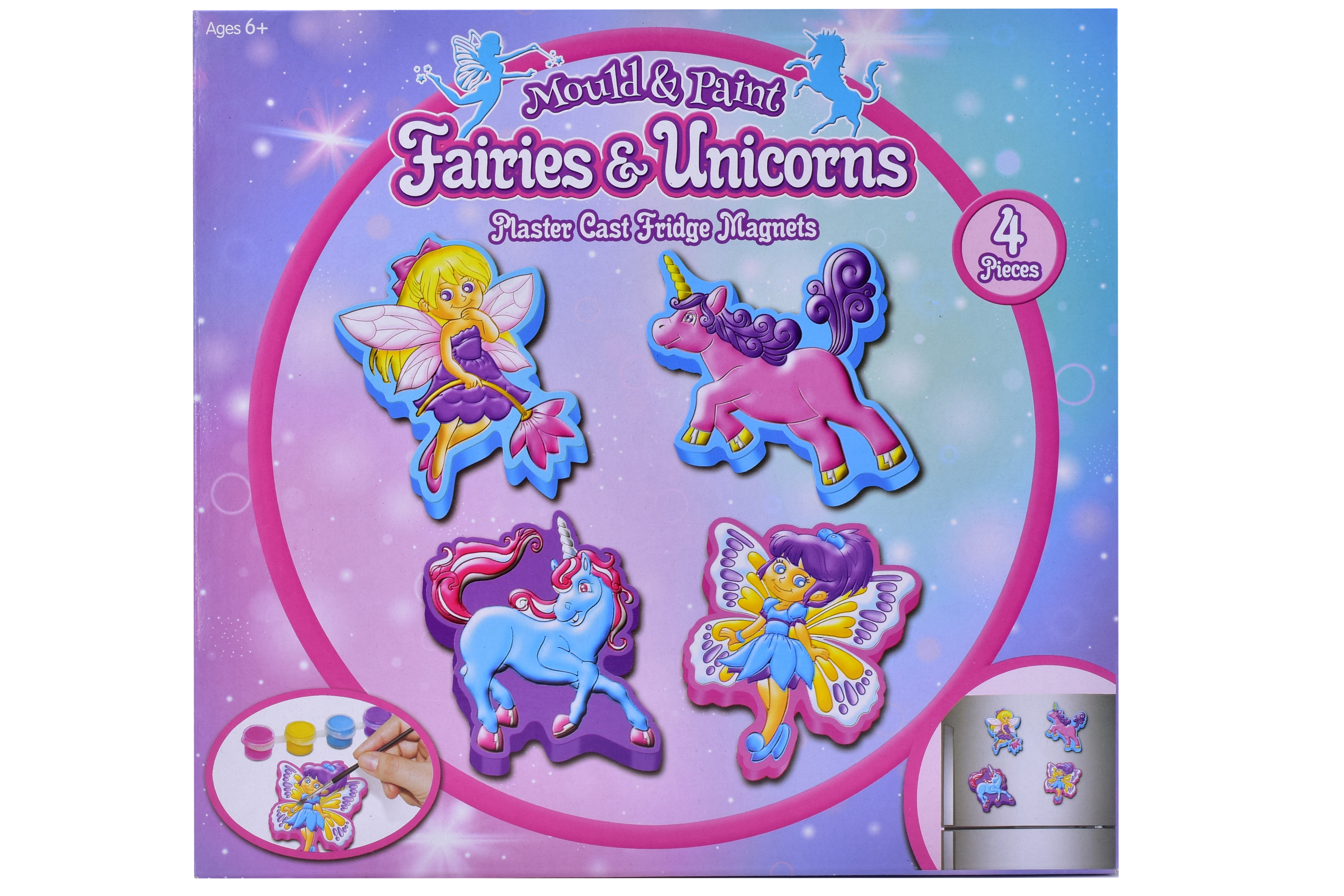 "Fairy & Unicorn Fridge Magnet Set ""Make Your Own"""