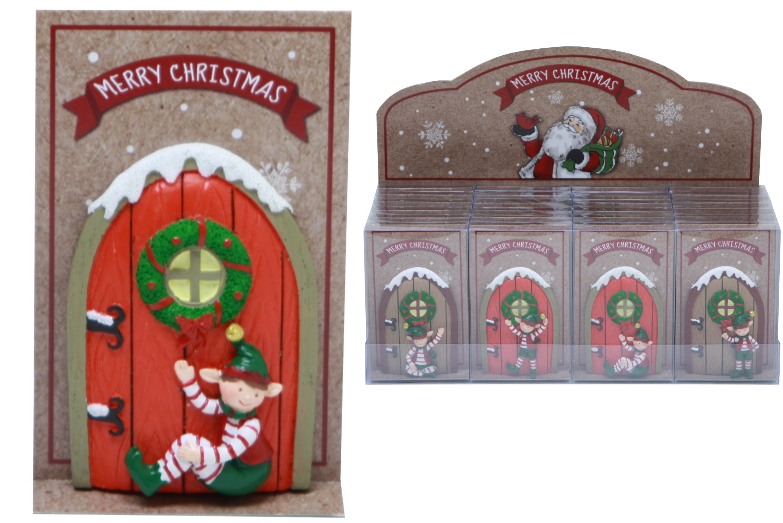 Christmas Elf Door (4 Assorted) In Acetate Box / Dbx