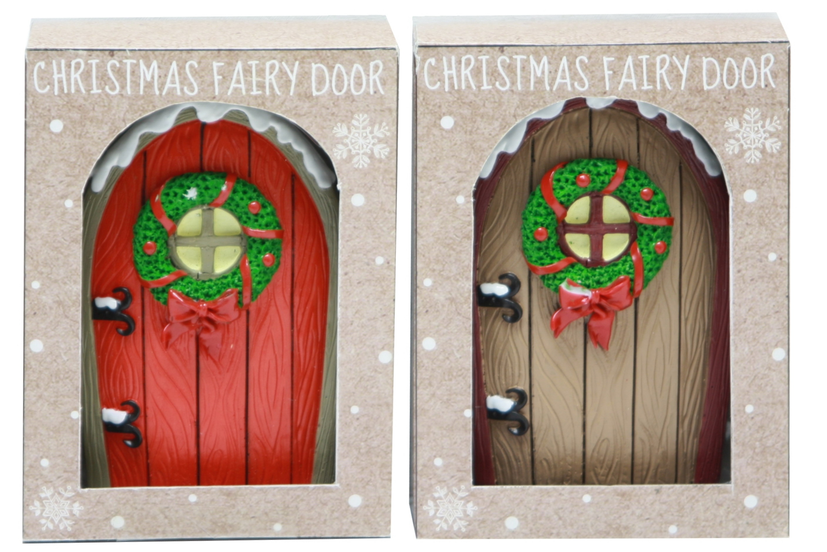 Christmas Fairy Door (2 Asst) In Acetate Box / Otb