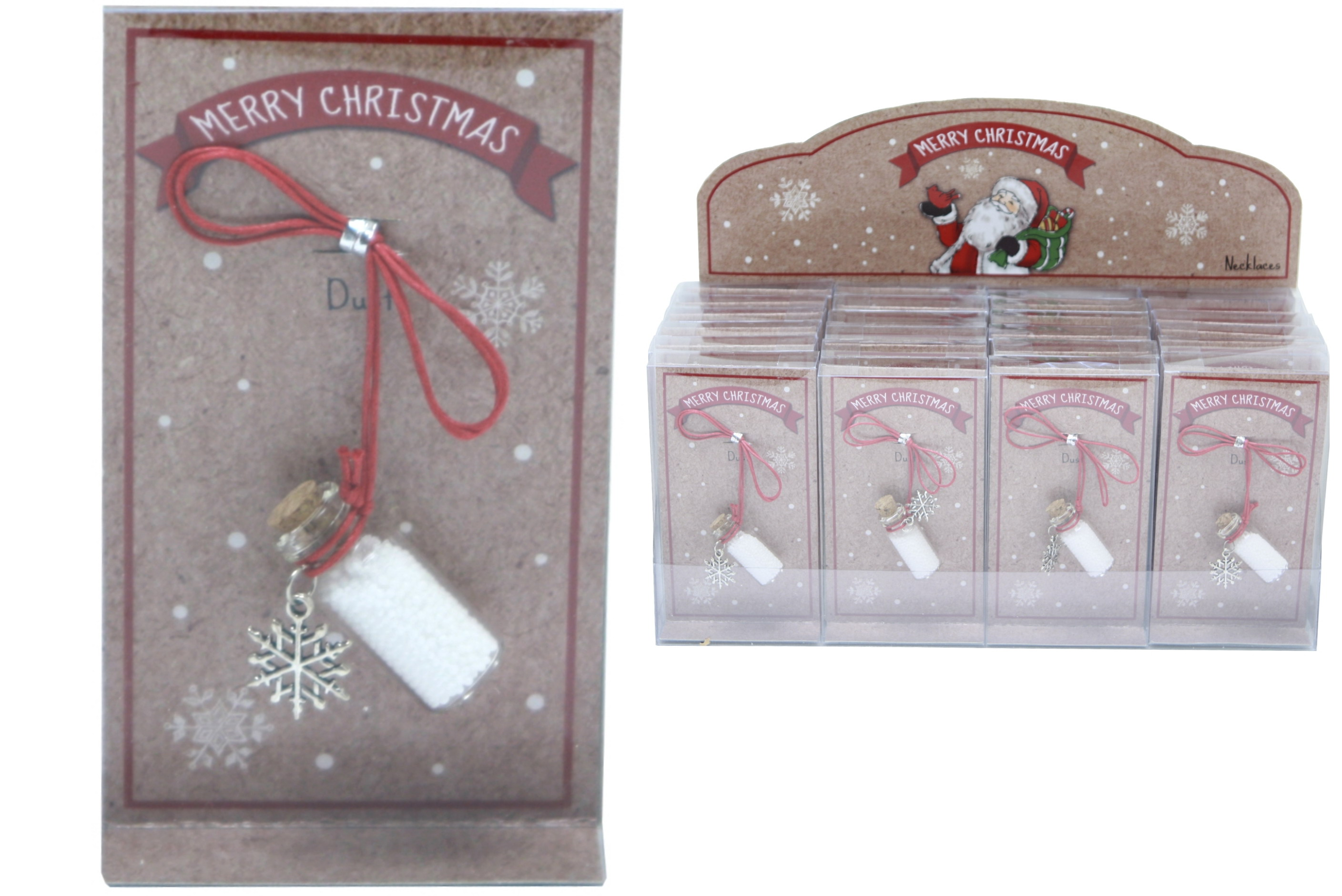 Merry Christmas Snow Dust In Acetate Box / Display Box