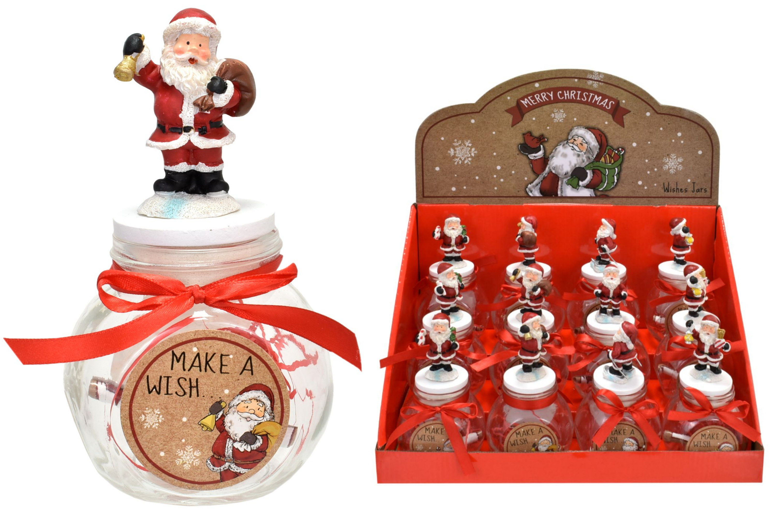 Merry Christmas Make A Wish Jar In Display Box
