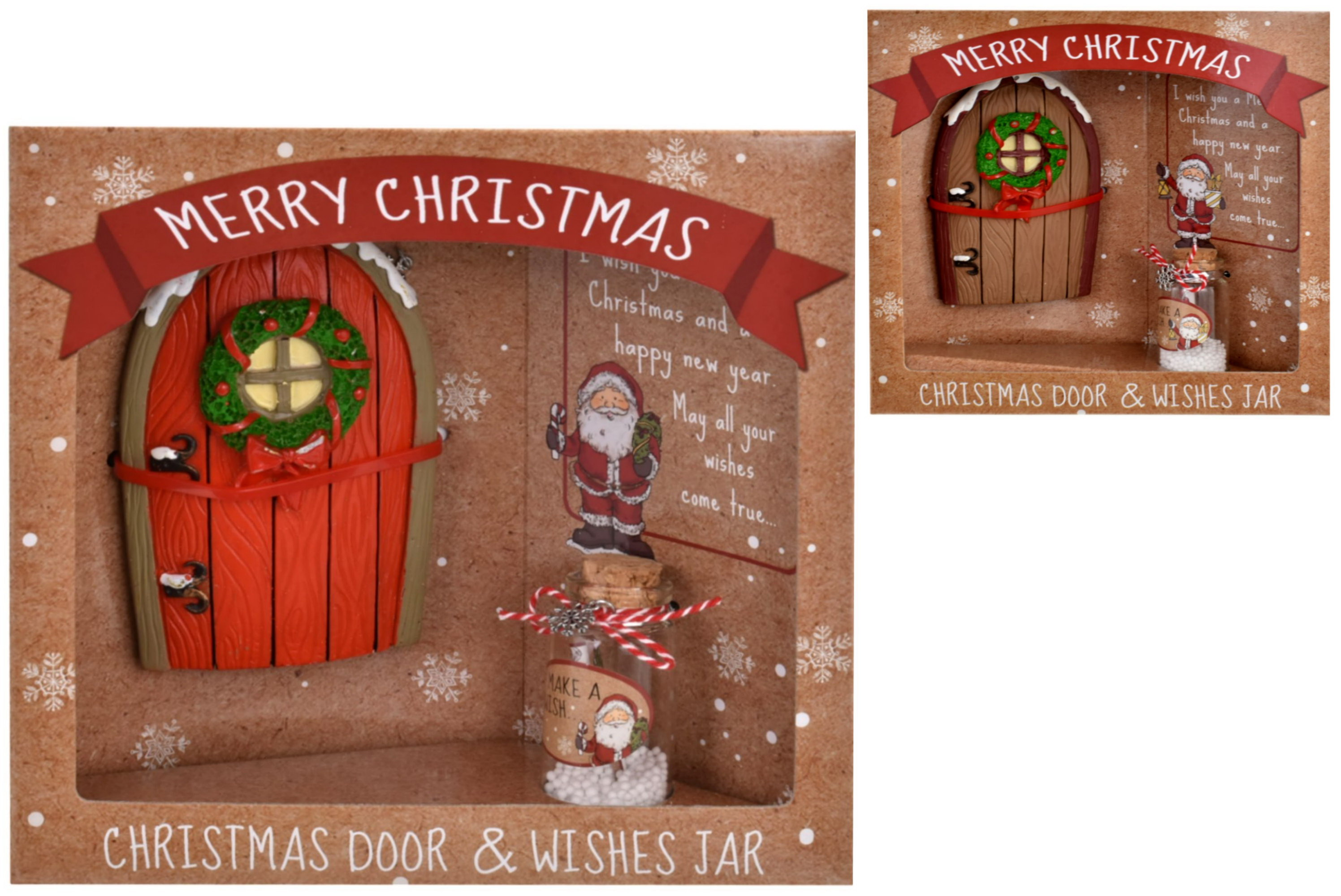 Christmas Fairy Door & Wishing Jar (2 Assorted) In Otb