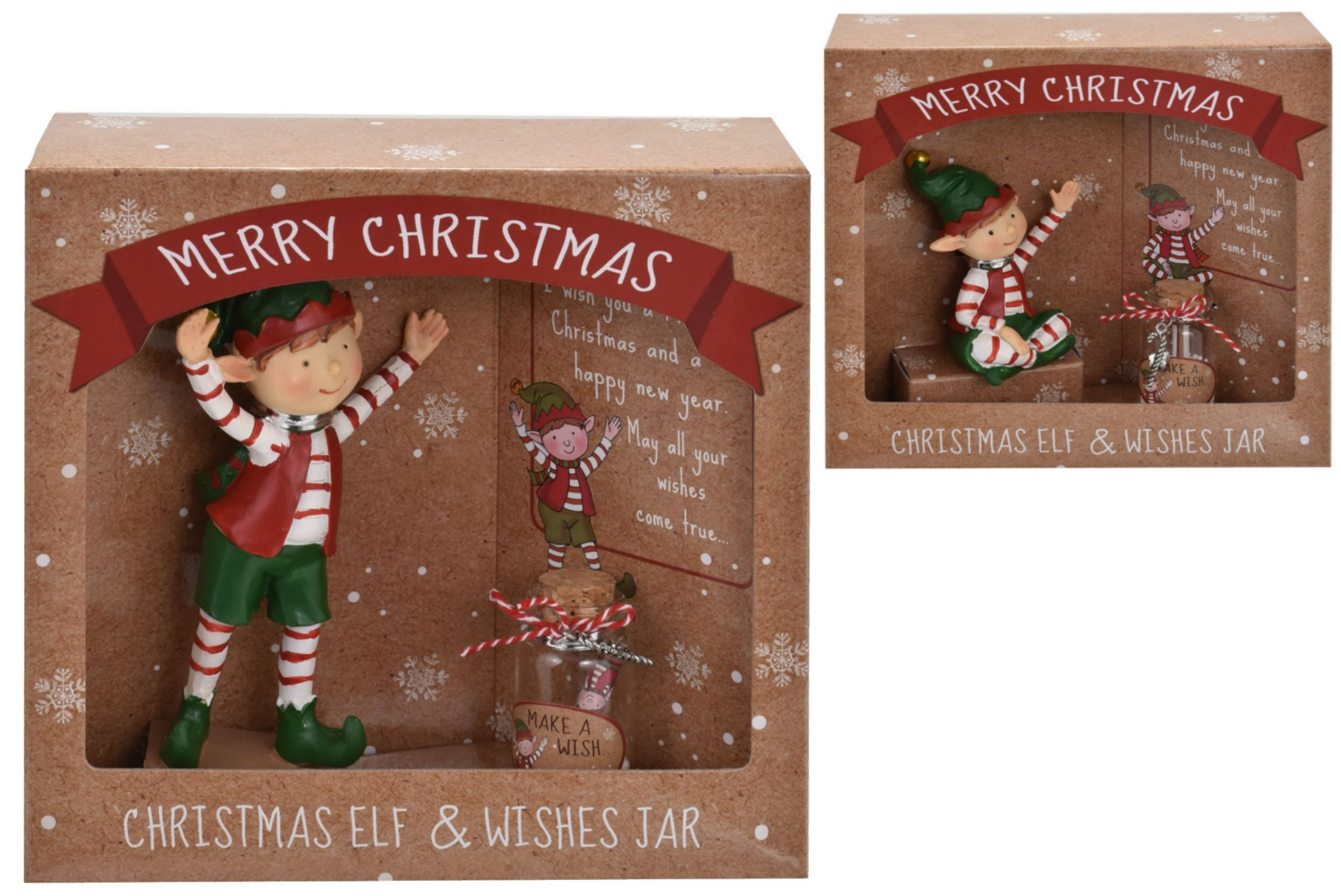 Christmas Elf & Fairy Jar (2 Assorted) In Open Touch Bx