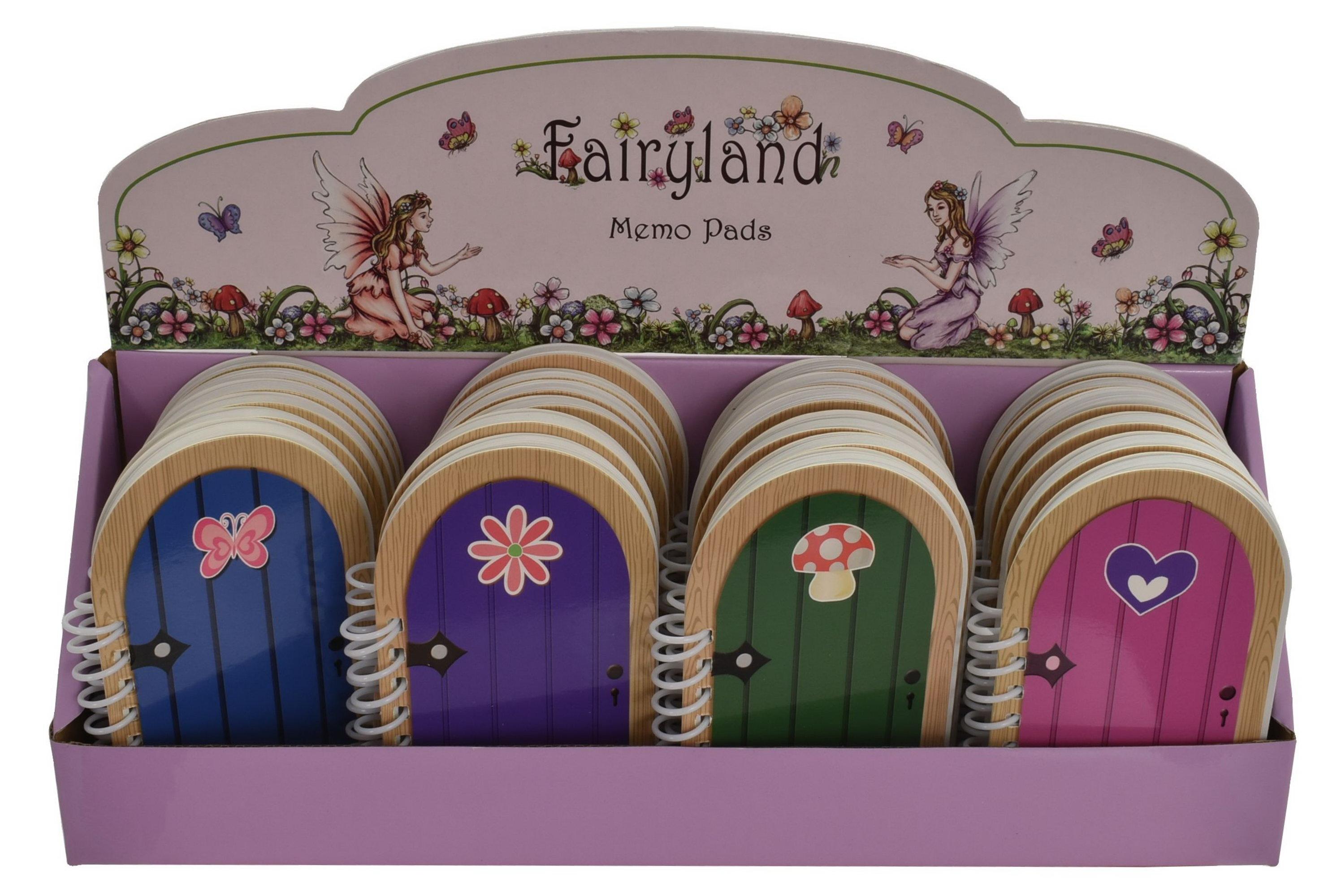 Fairy Door Notebook (4 Assorted) In Display Box