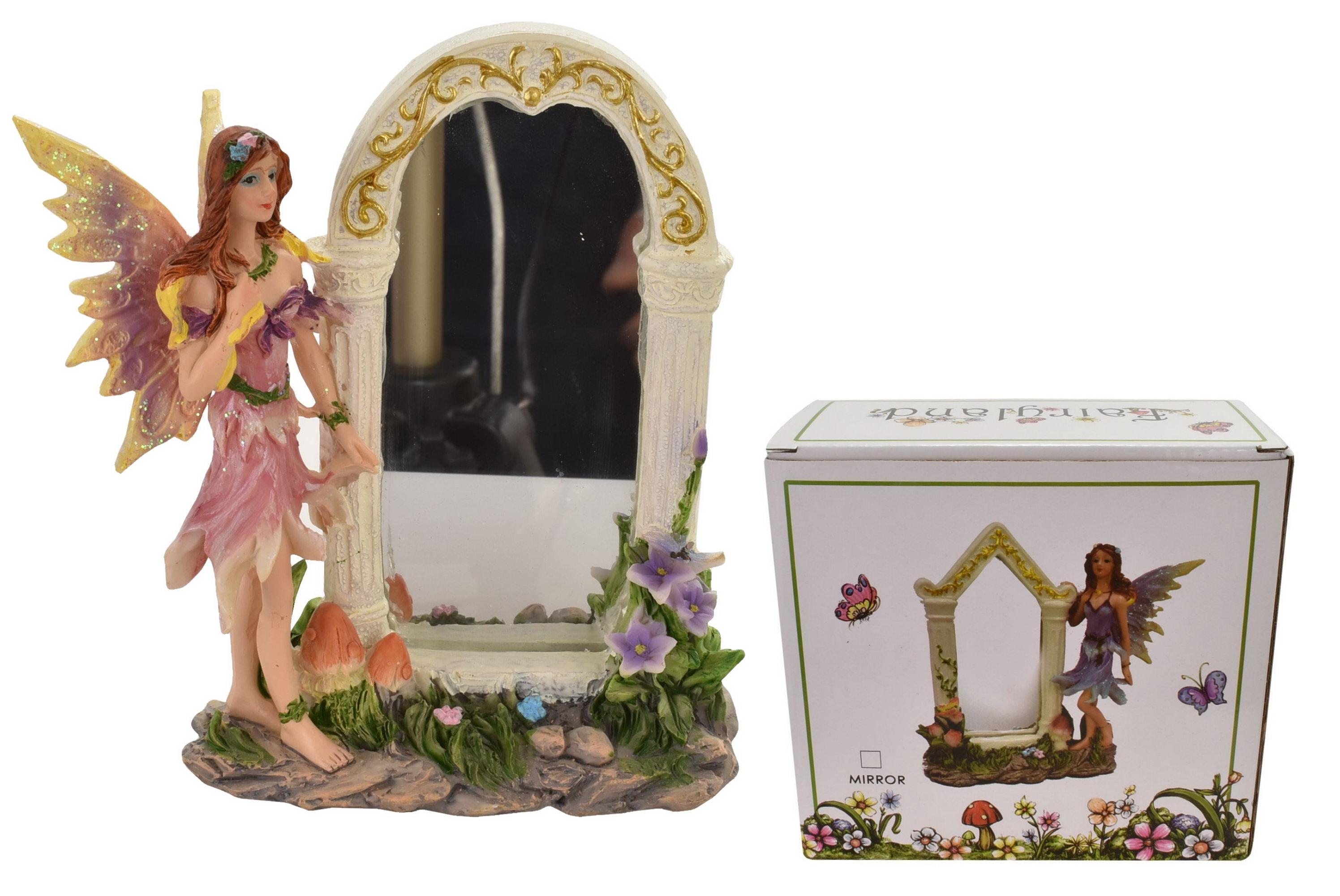 "Fairy With Mirror (2 Asst) In Colour Box ""Fairyland"""