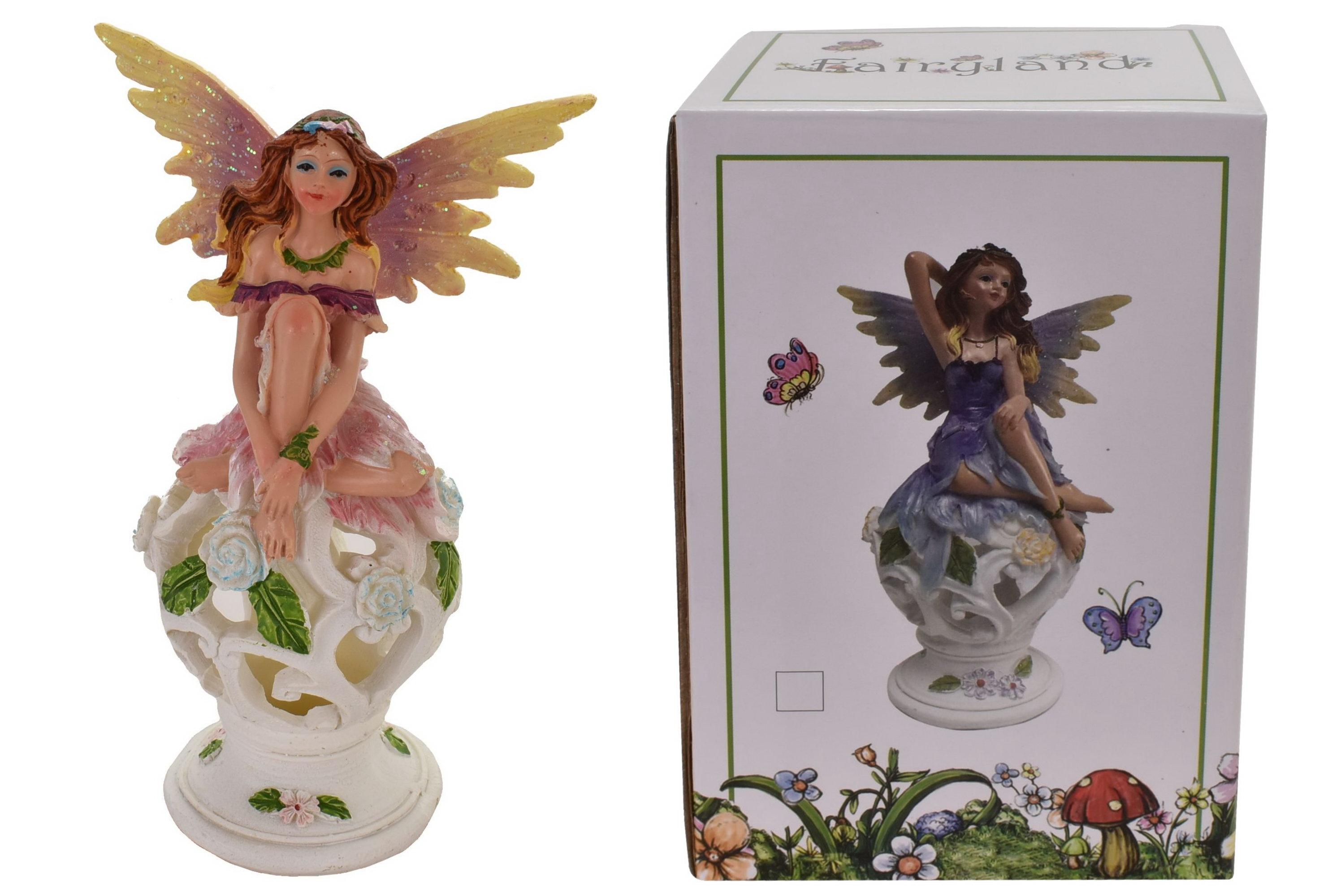 "Fairy On Decorative Ball (2 Asst) In Col Box""Fairyland"""