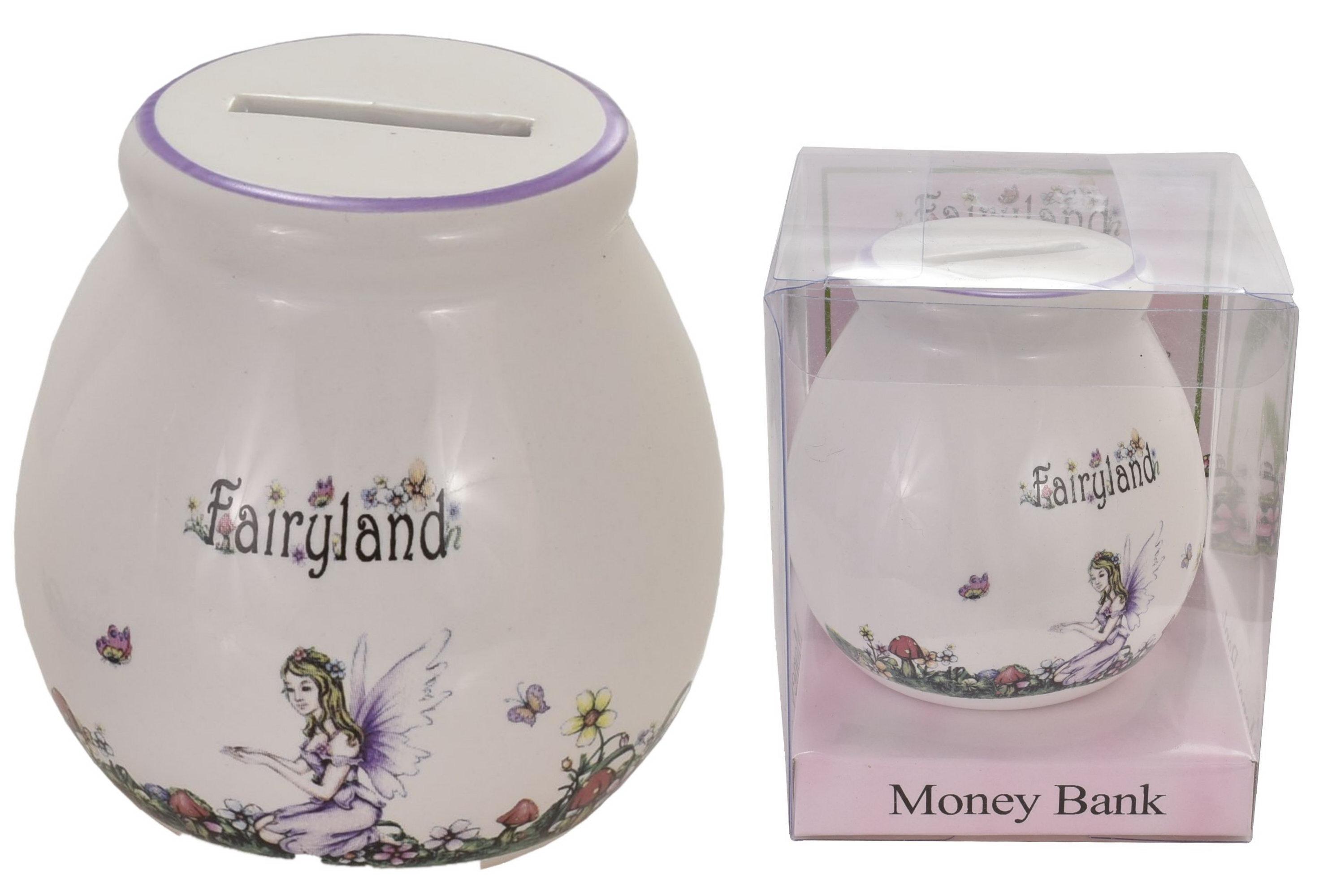 "Fairy Moneybox (4 Assorted) In Acetate Box ""Fairyland"""