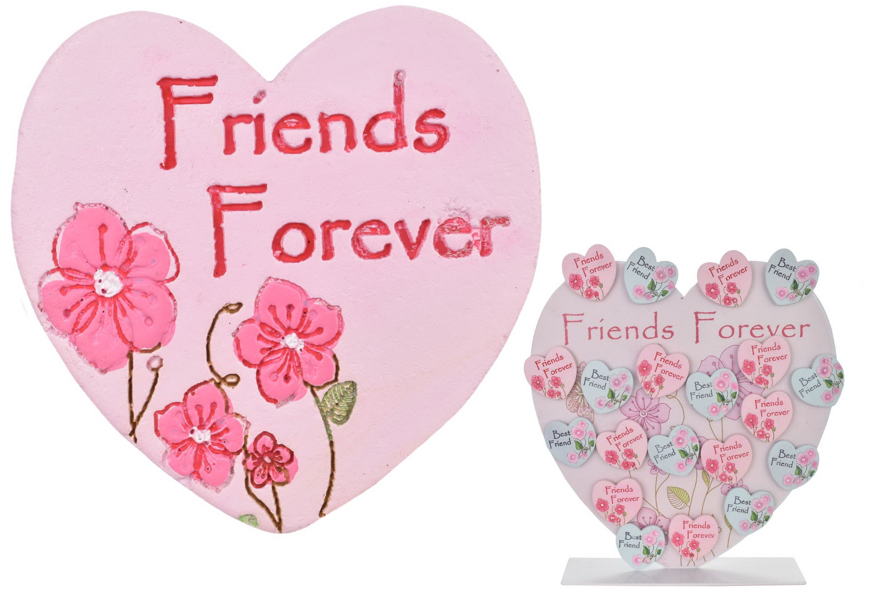 Friends Forever Magnet (4 Asst) On Metal Display Stand