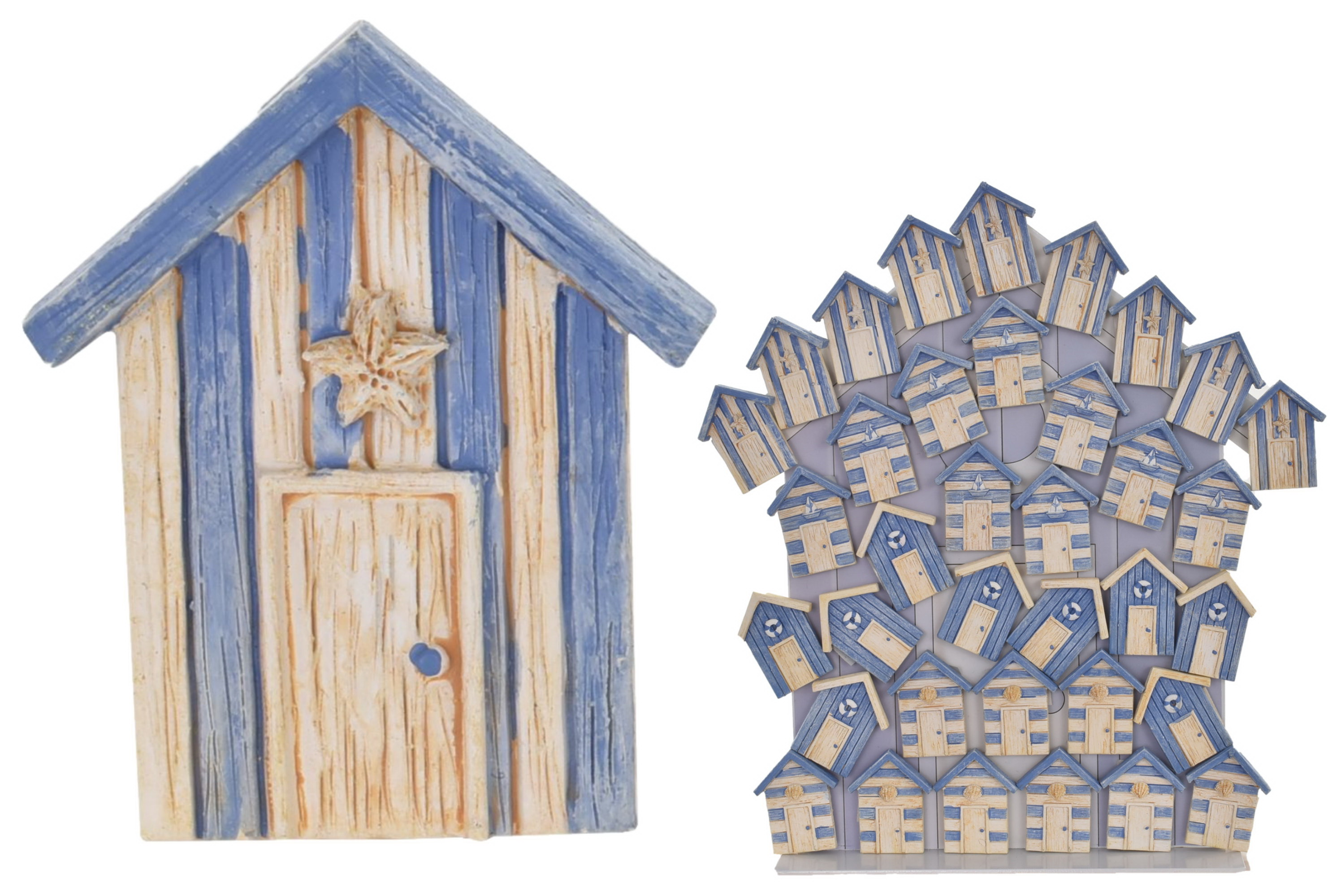 Beach Hut Magnet (4 Assorted) On Metal Display Stand