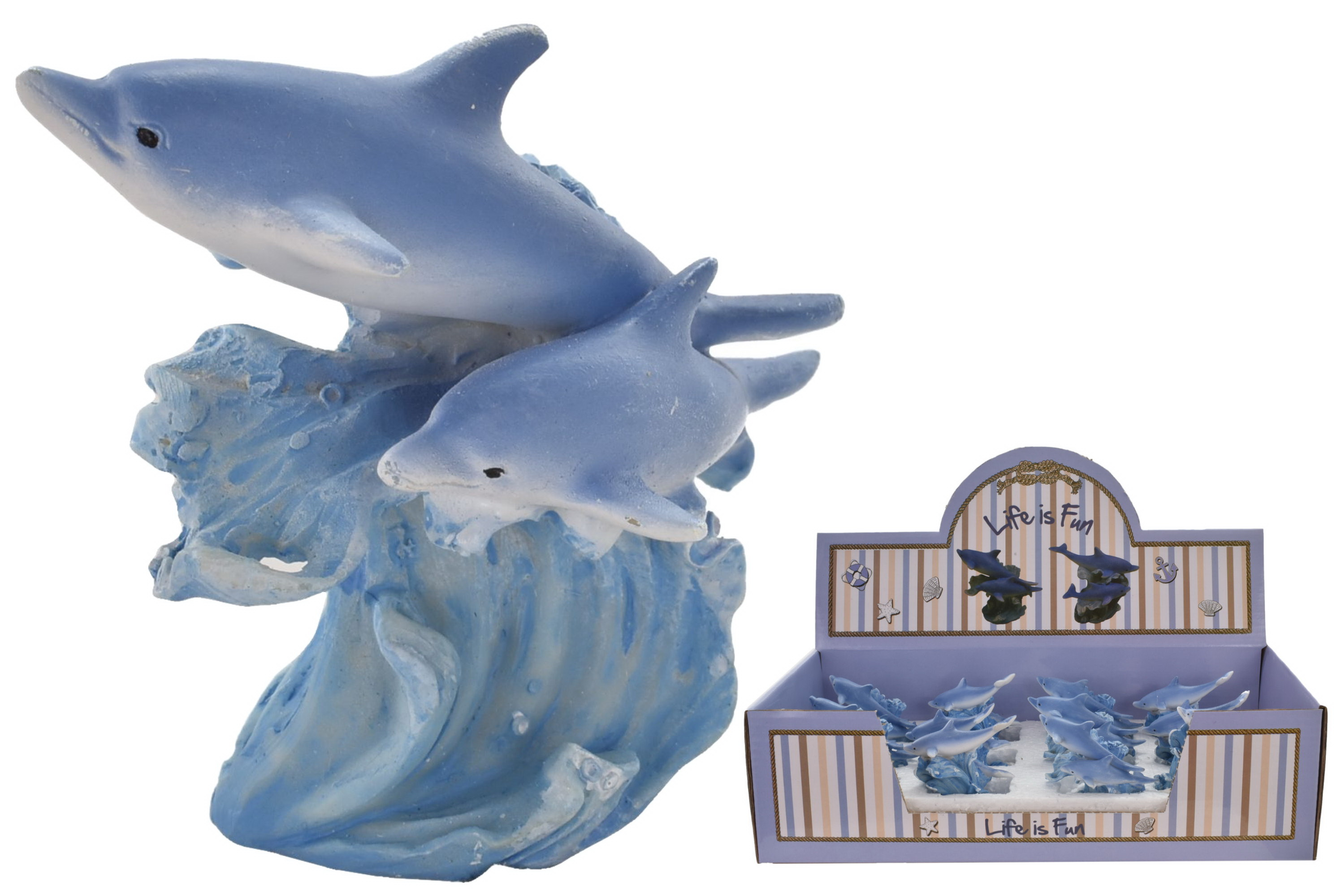 Dolphin Ornament 6.5cm (2 Assorted) In Display Box