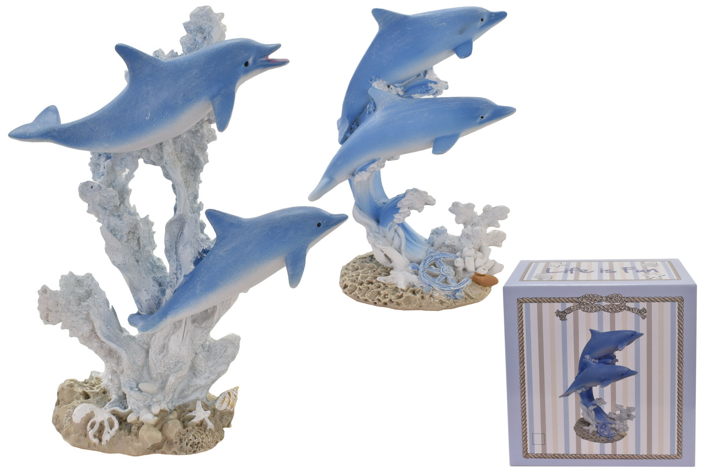 14cm Dolphin Ornament (2 Assorted) In Colour Box