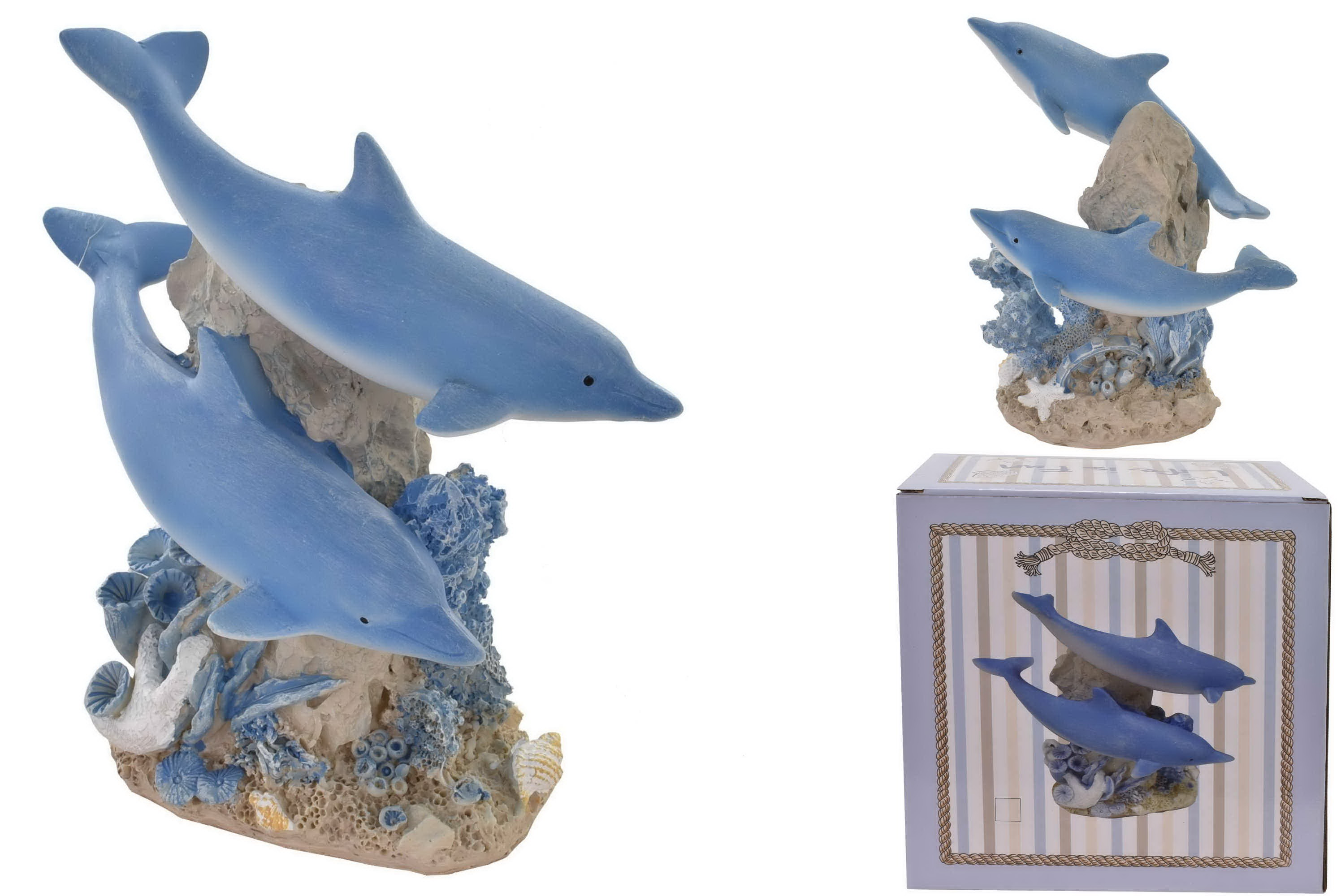 15.5cm Dolphin Ornament (2 Assorted) In Colour Box