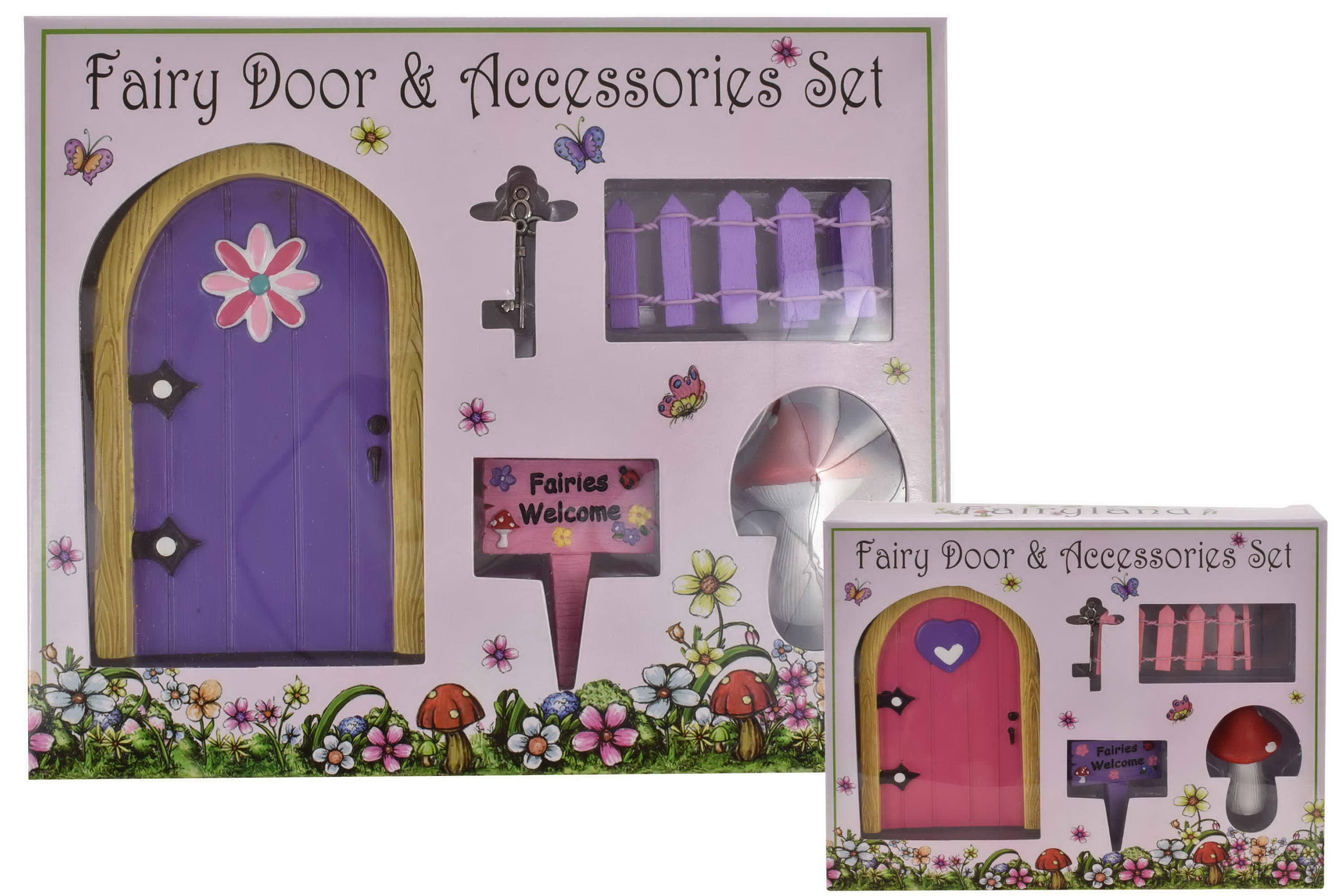 Fairy Door & Accessories Set In Window Box