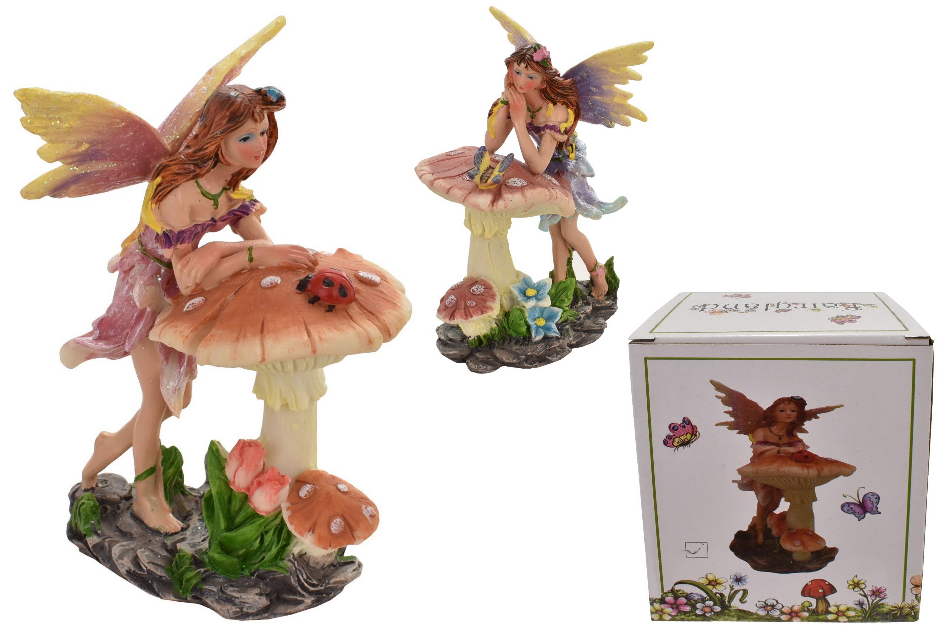 """Fairy With Mushroom 12cm (2 Asst) In Box """"Fairyland"""""""