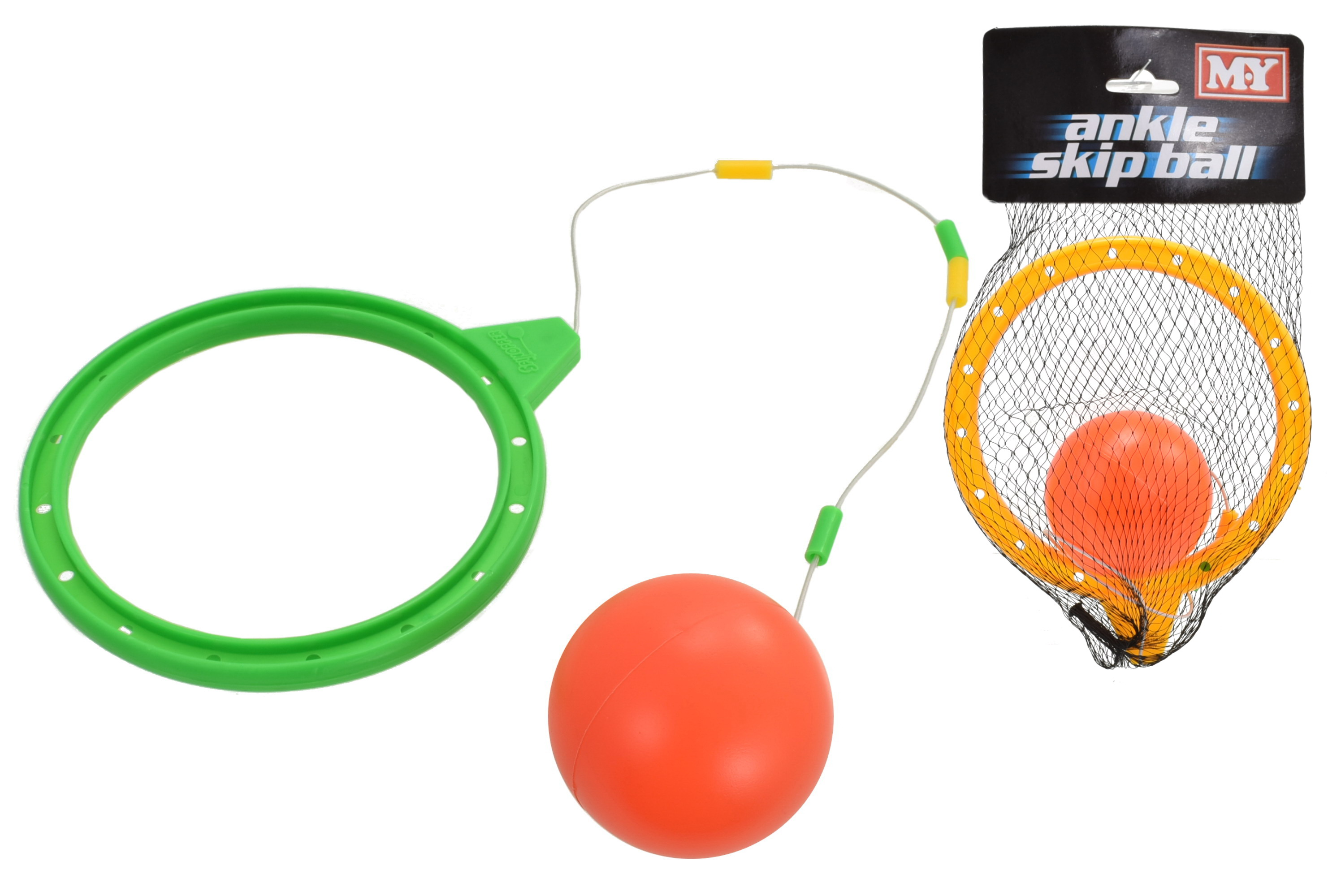 "Ankle Skip Ball In Net Bag/Header ""M.Y"""
