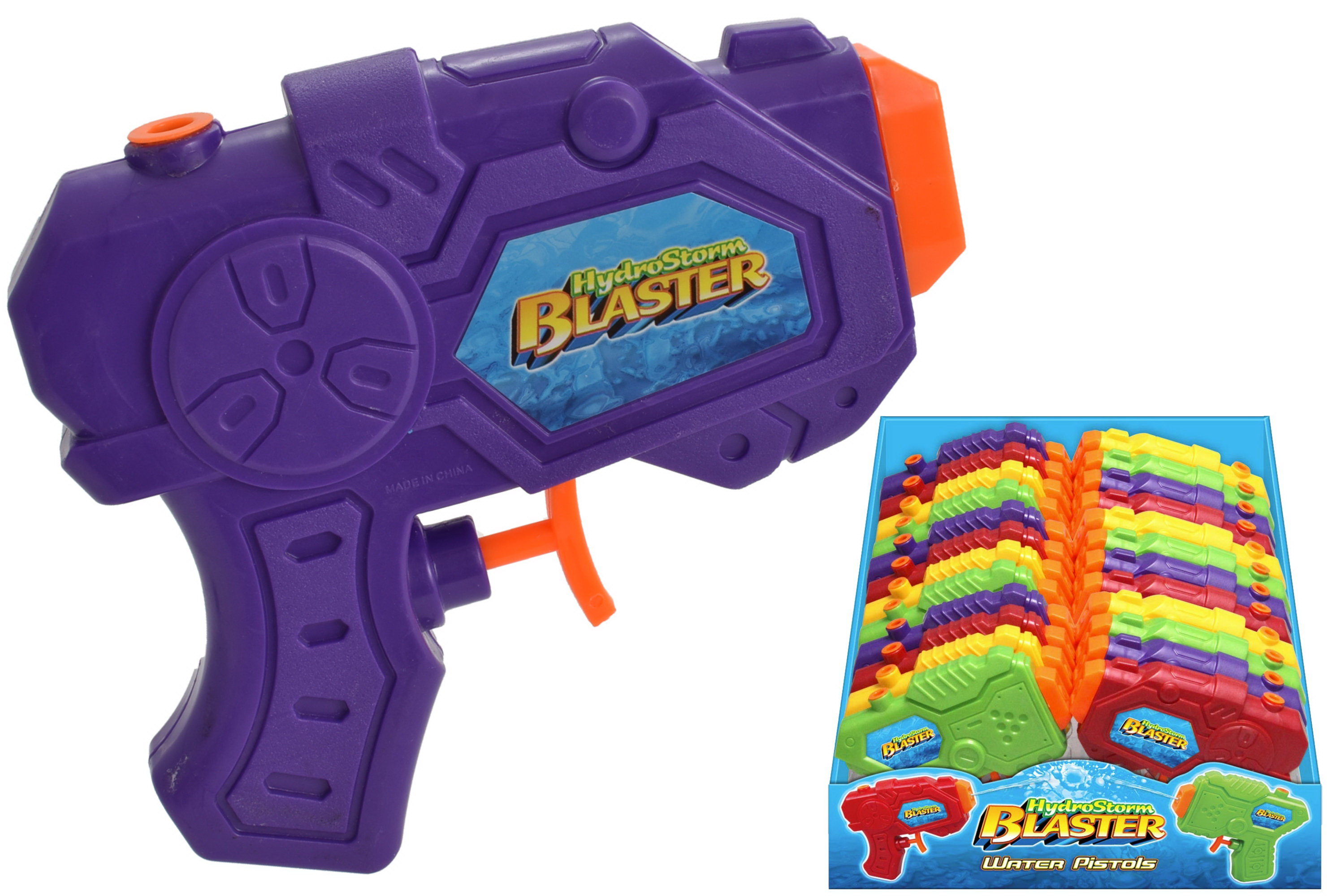 Small Water Pistol 4 Assorted Colours In Display Box