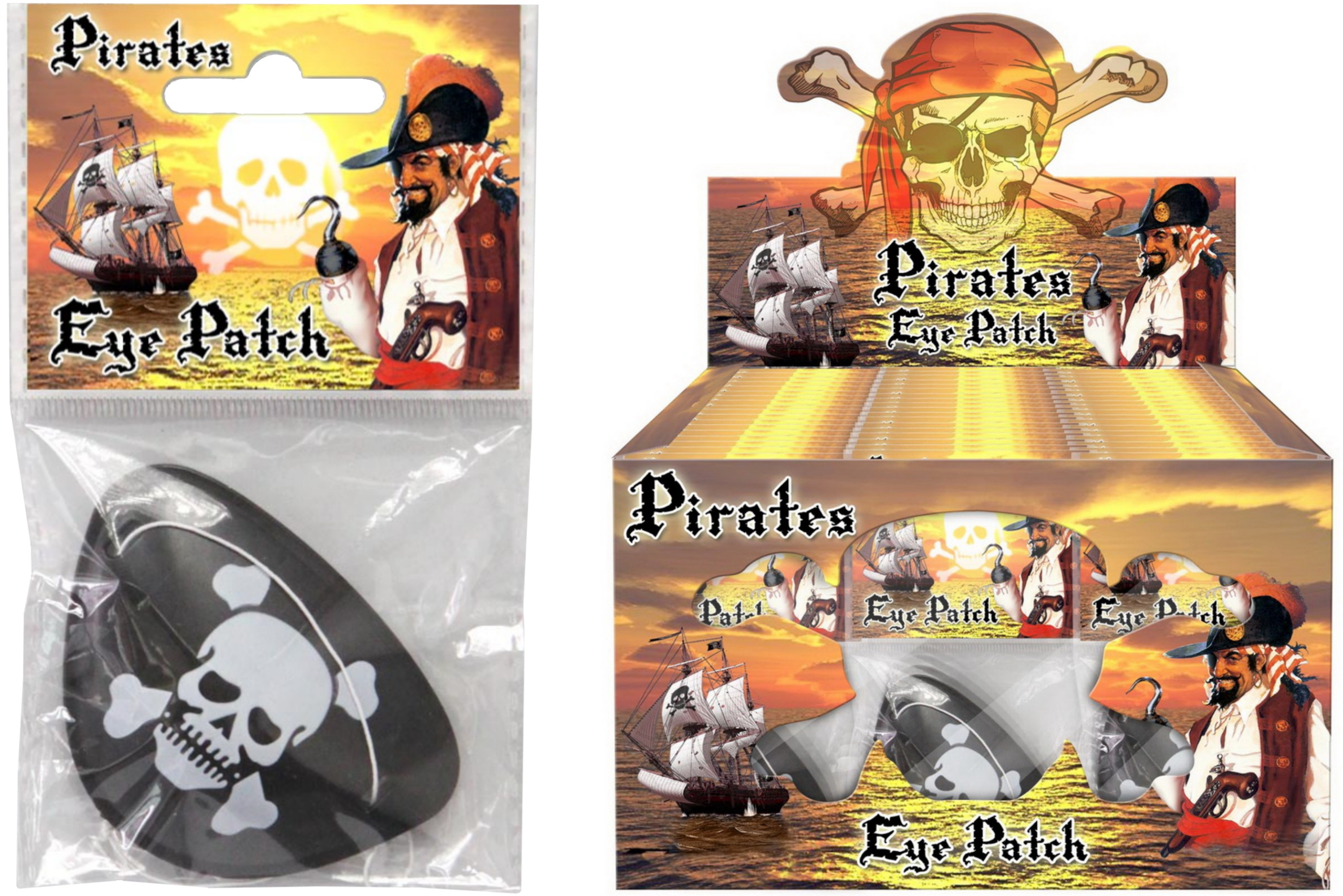 Pirate Eye Patches In Display Box