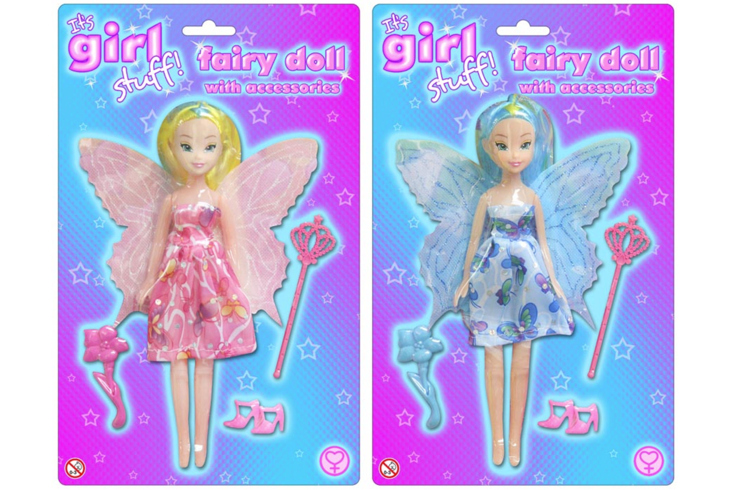 Fairy Doll With Accessories 2 Assorted On Blistercard