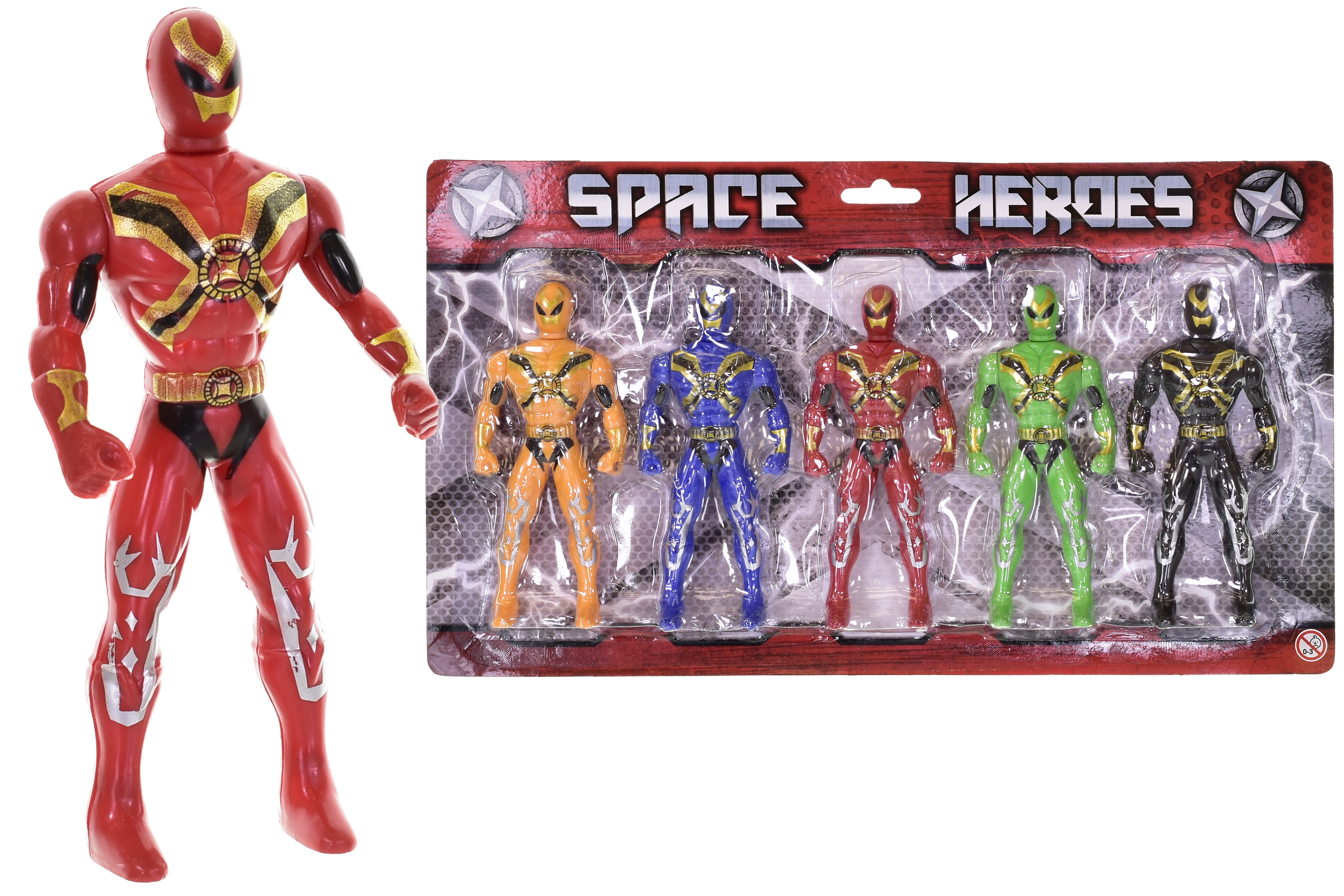 5pc Action Figures On Blistercard