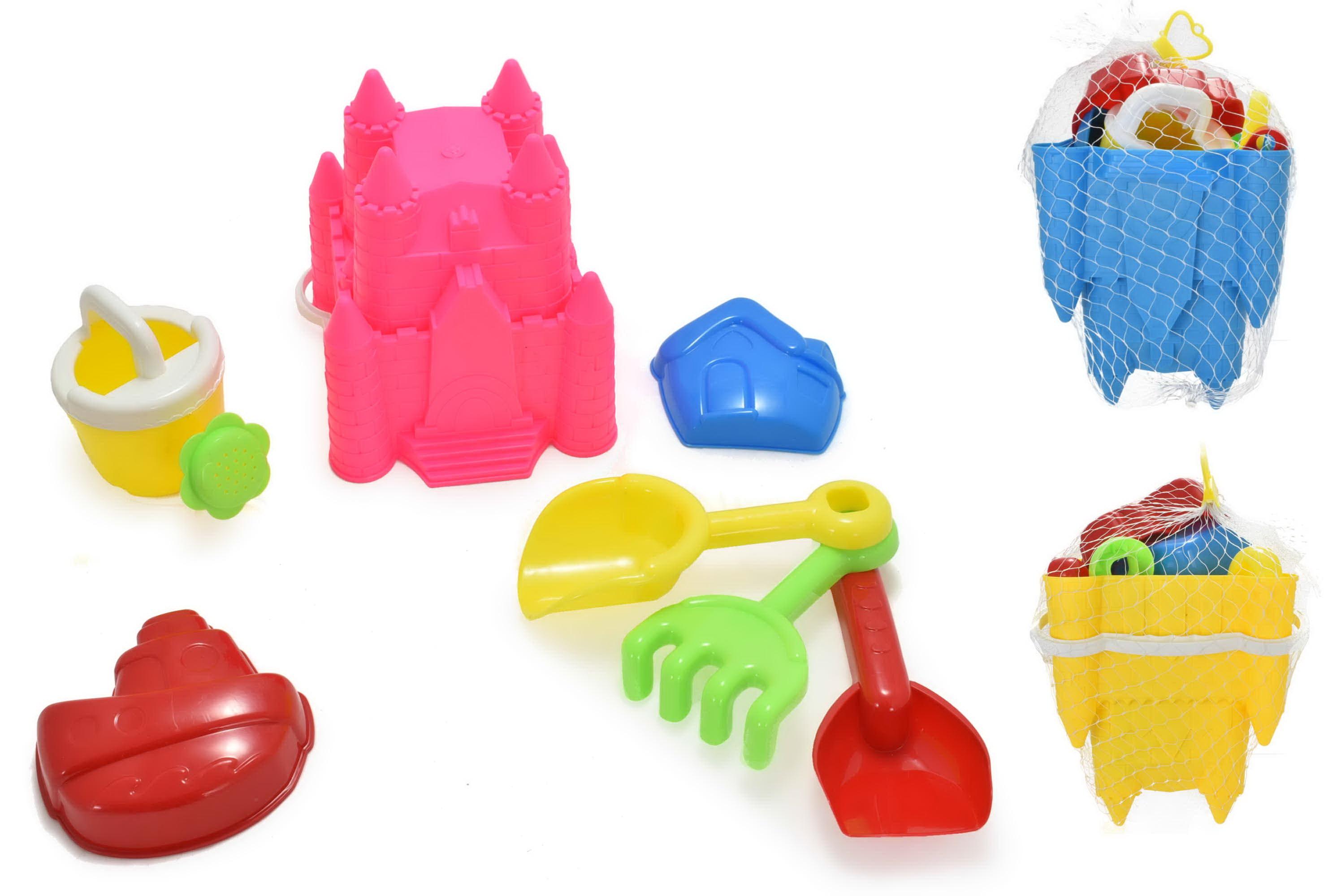 Princess Castle Bucket Set 7pc 3 Assorted Colours