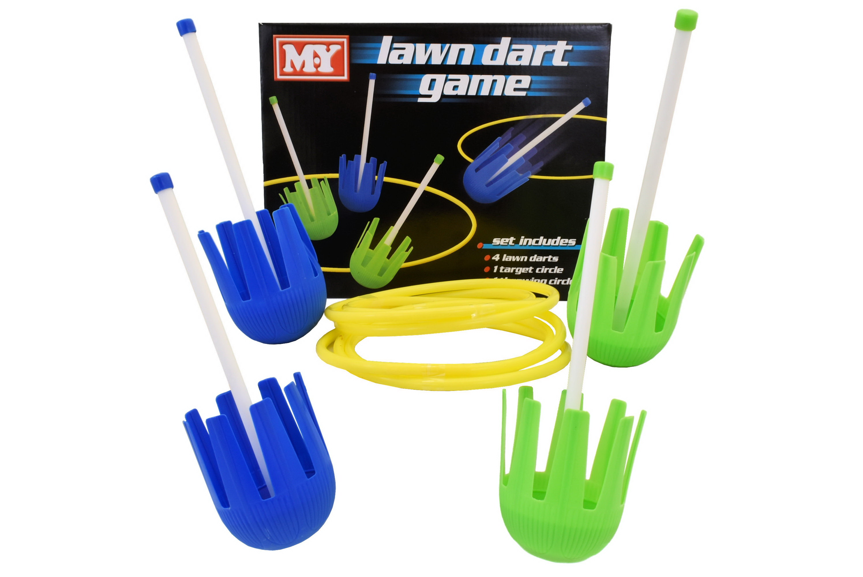 "4pc Lawn Dart Game ""M.Y"" In Colour Box"
